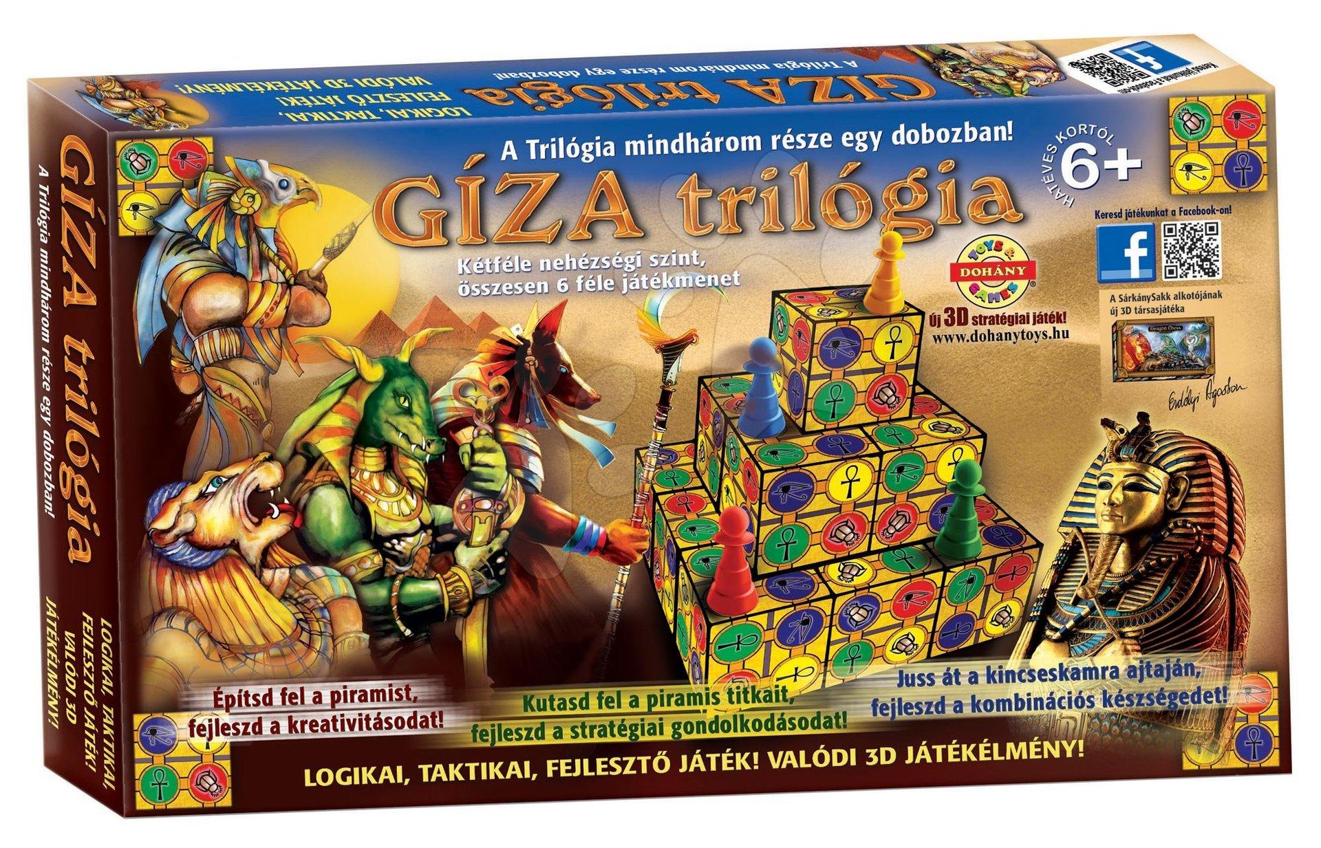 Spoločenské hry pre deti - Spoločenská hra Giza Trilogia Dohány od 6 rokov