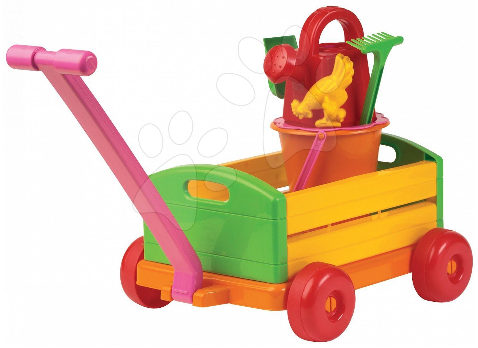 Vozík na tažení Écoiffier s kbelík setem s konví 6 dílů od 18 měsíců