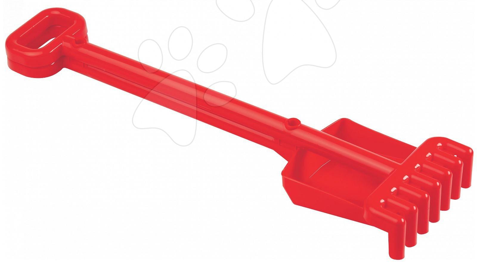 Lopatky do písku - Sada lopatka a hrabičky Écoiffier (délka 52 cm) červená od 18 měsíců