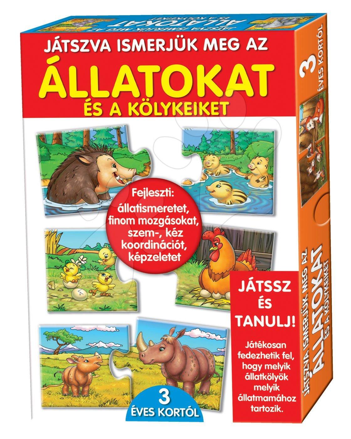 Spoločenské hry pre deti - Náučná hra Zvieratá a mláďatá Dohány 32 ks