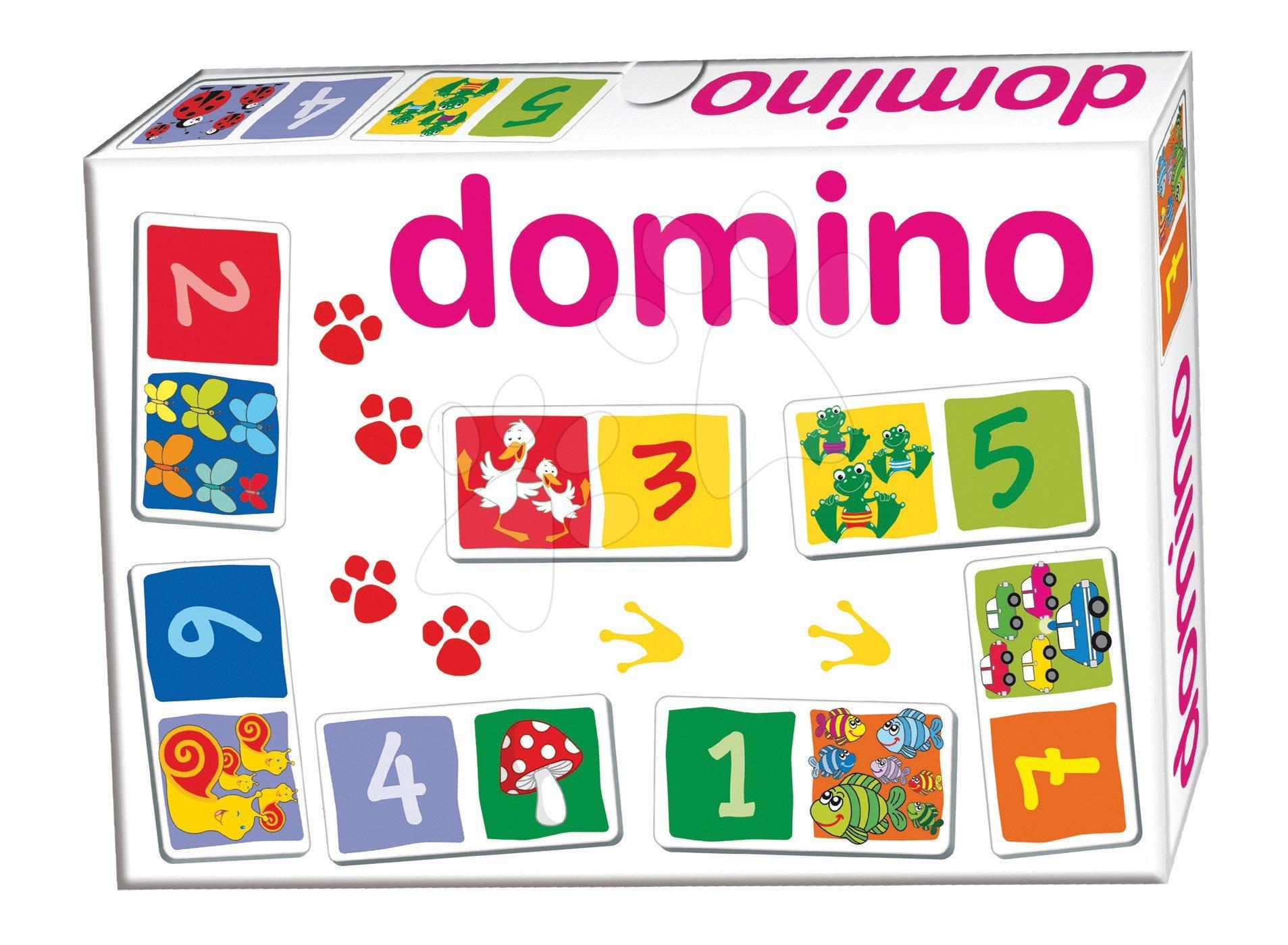 Domino pro nejmenší Čísla Dohány 28 ks