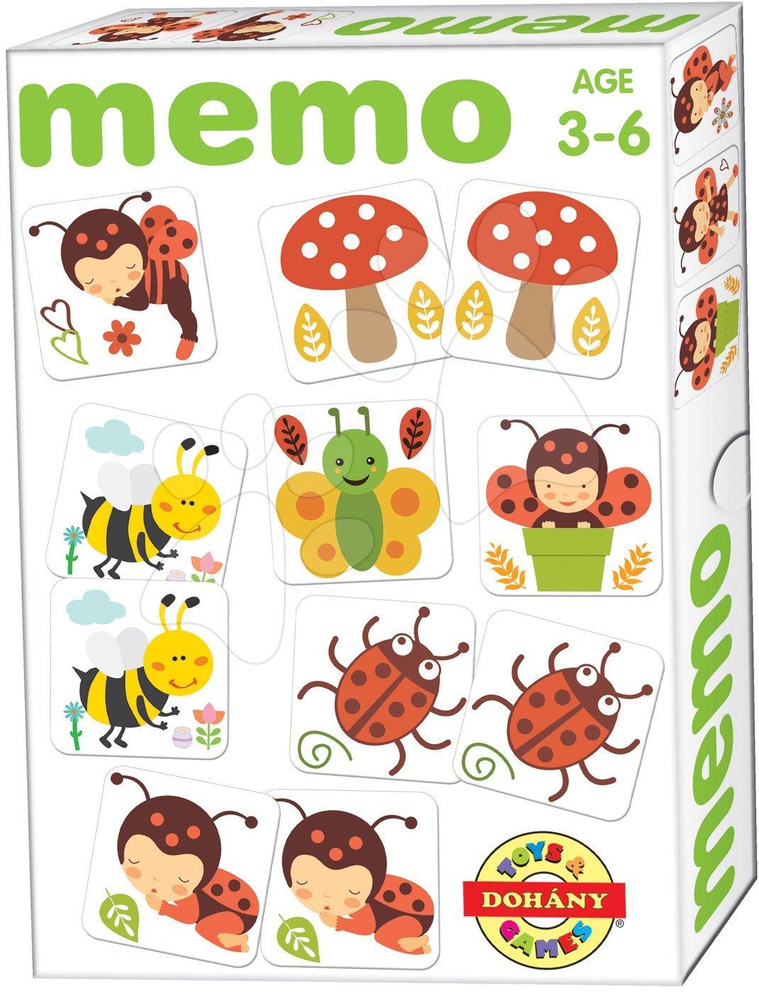Pexeso s broučky Memo hra Dohány 32 ks od 3 let
