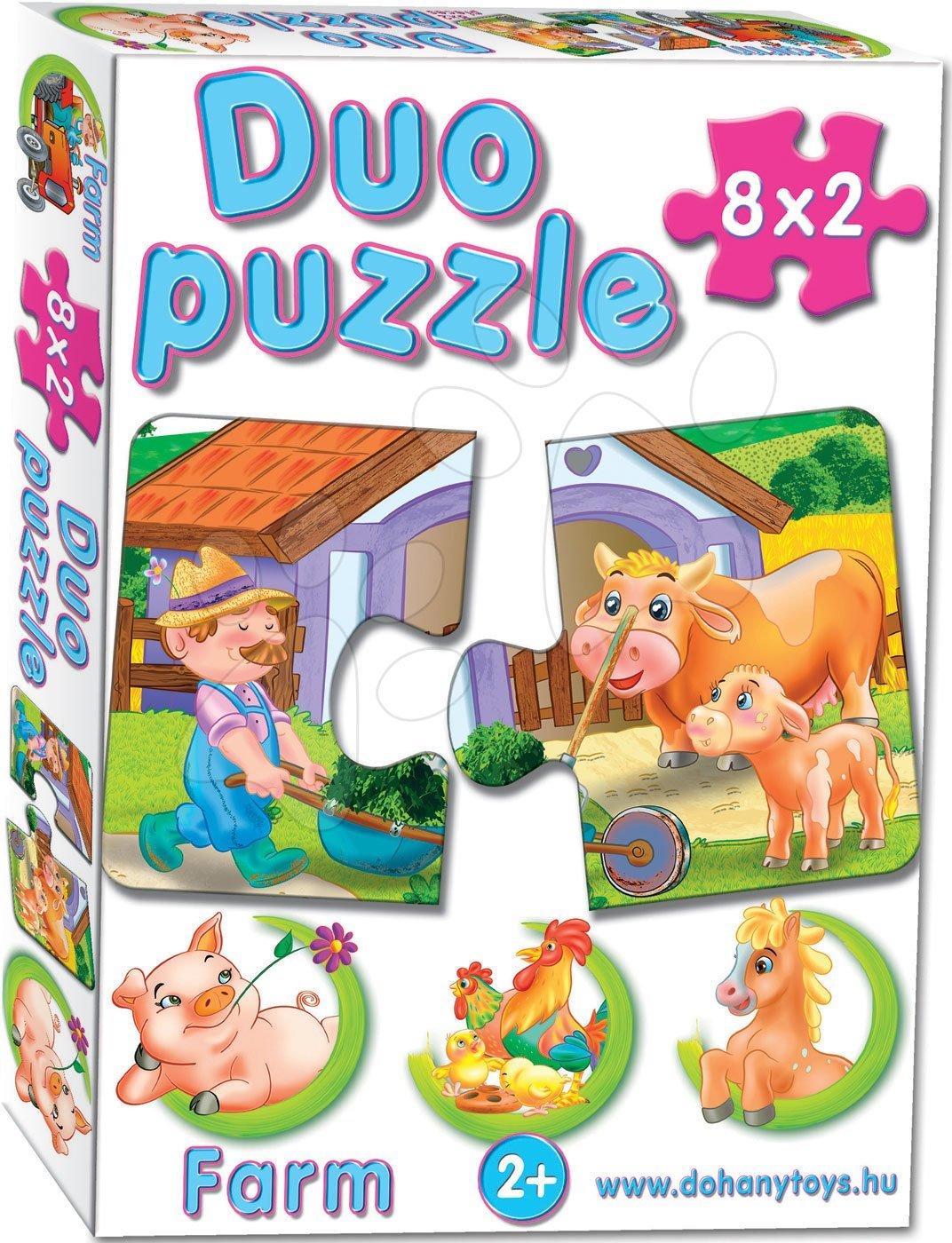 Baby puzzle Duo Farma Dohány 2obrázkové 8 x 2 dílky od 24 měsíců