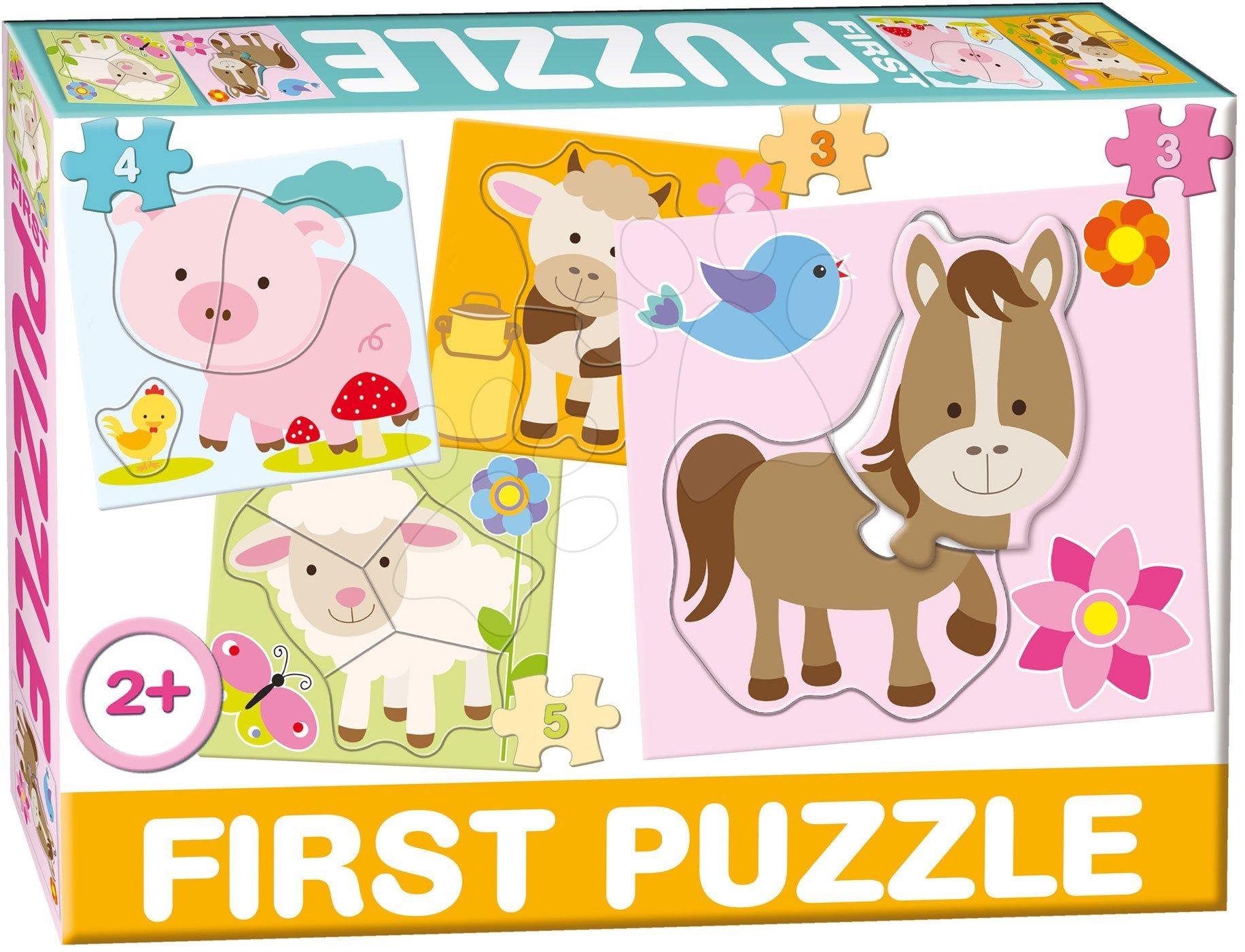 Puzzle pre najmenších - Puzzle Baby First Farma Dohány 4-obrázkové od 24 mes