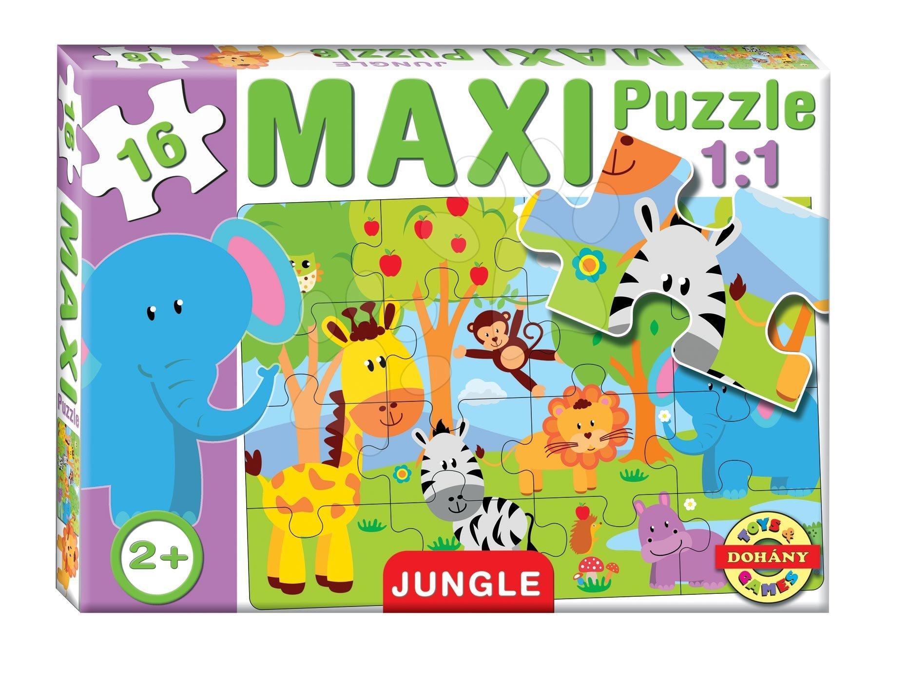 Puzzle pre najmenších - Baby puzzle Maxi Džungľa Dohány 16 dielov od 24 mes