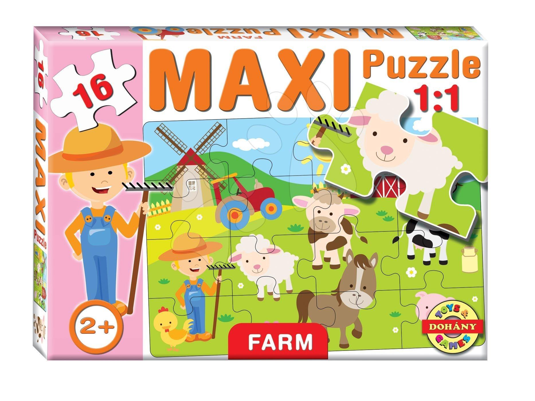Puzzle pre najmenších - Baby puzzle Maxi Farma Dohány 16 dielov od 24 mes