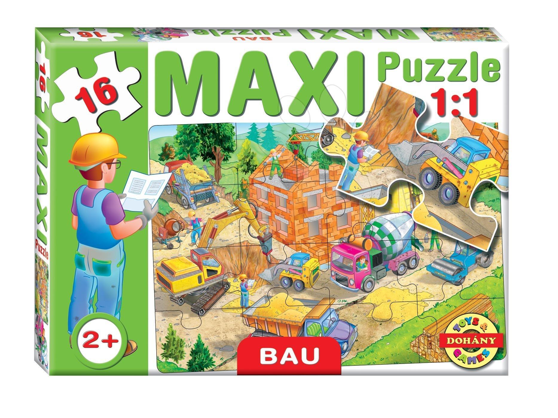 Dohány baby detské puzzle Maxi Stavenisko 16 dielikov 640-5 farebné