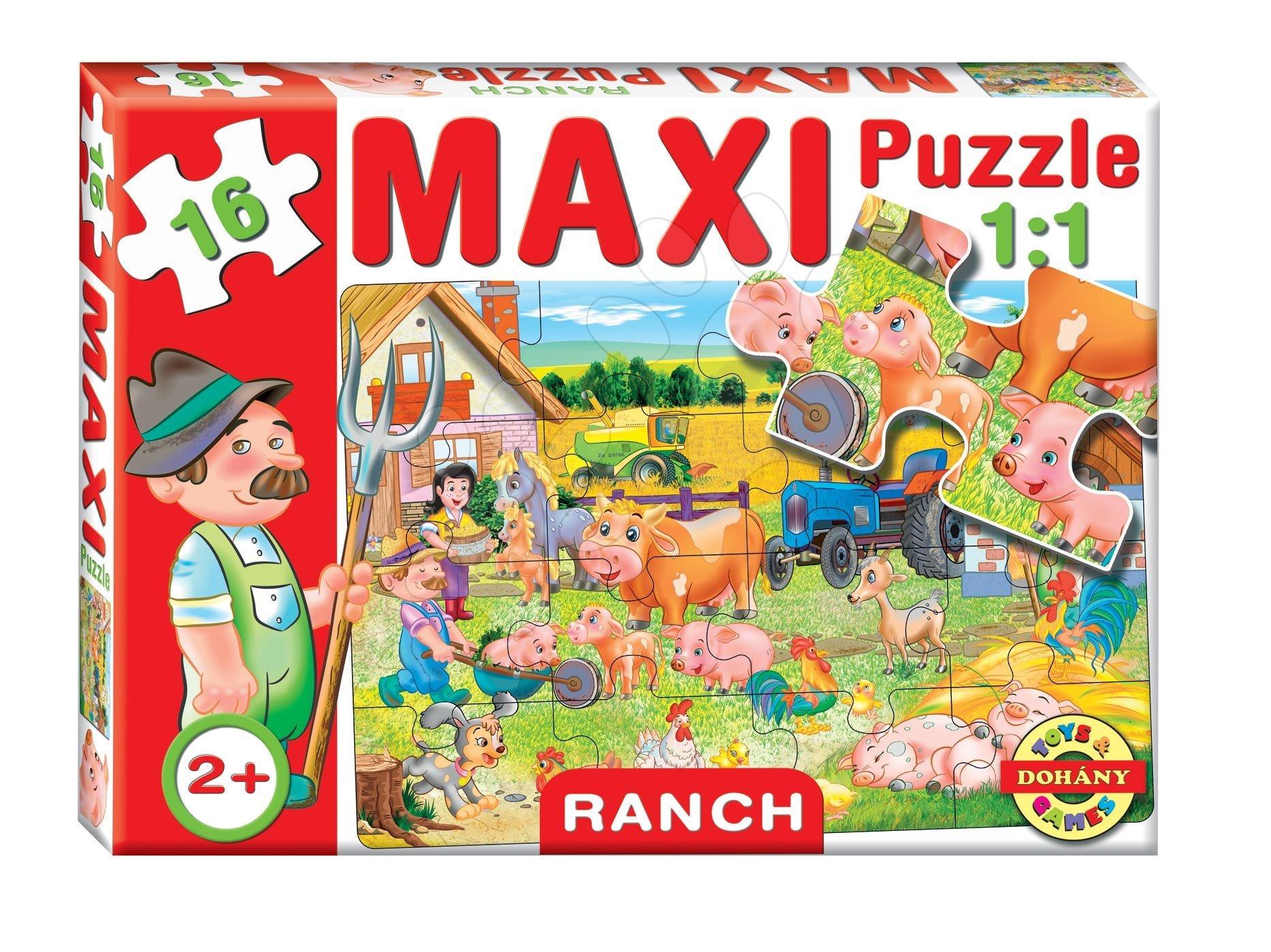 Dohány baby puzzle pre deti Maxi Ranč 16 dielikov 640-6 farebné