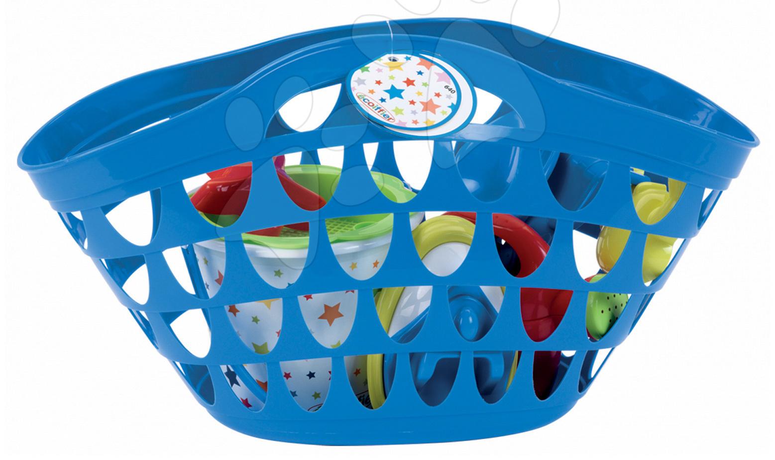Taška s kbelík setem hvězdičky Écoiffier 11 dílů modrá od 18 měsíců