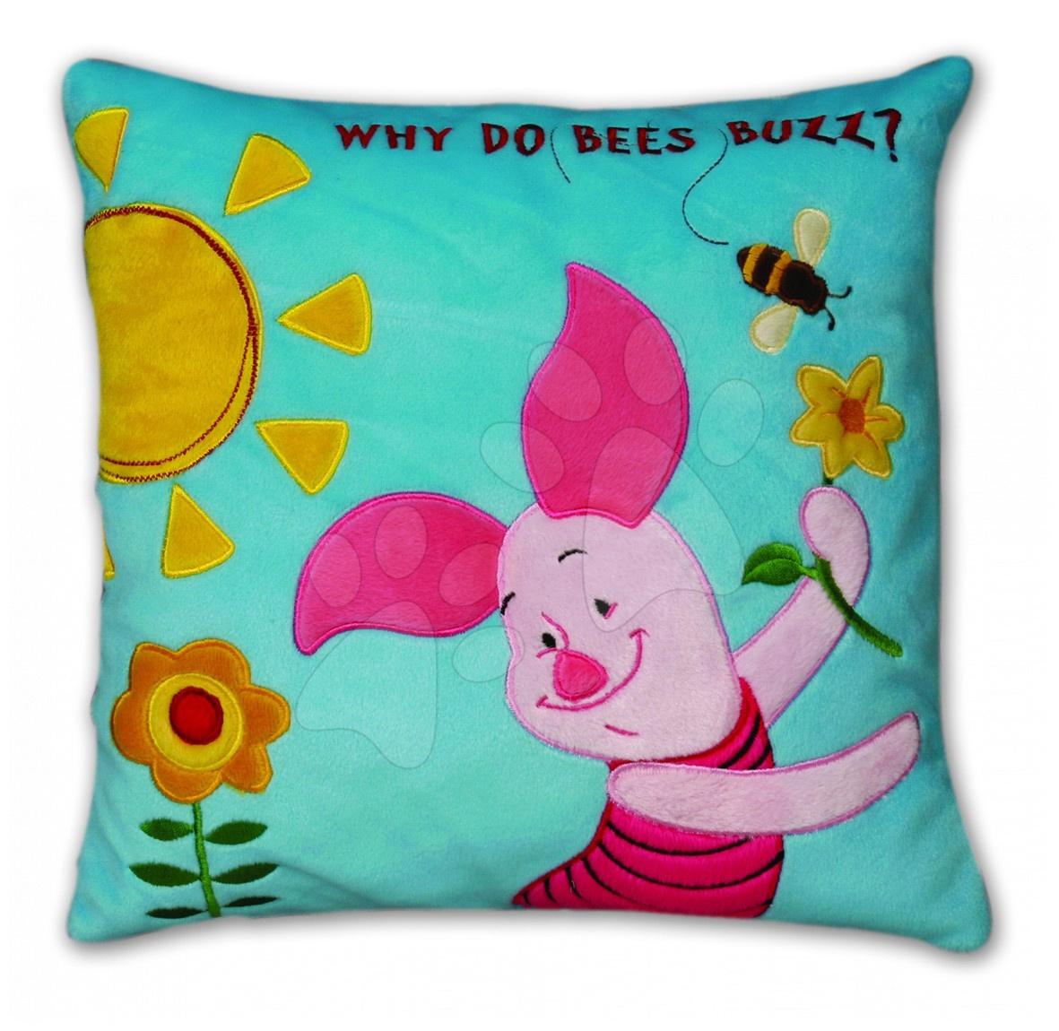 Pernă din pluş Winnie the Pooh-Purceluş Ilanit 36x36 cm