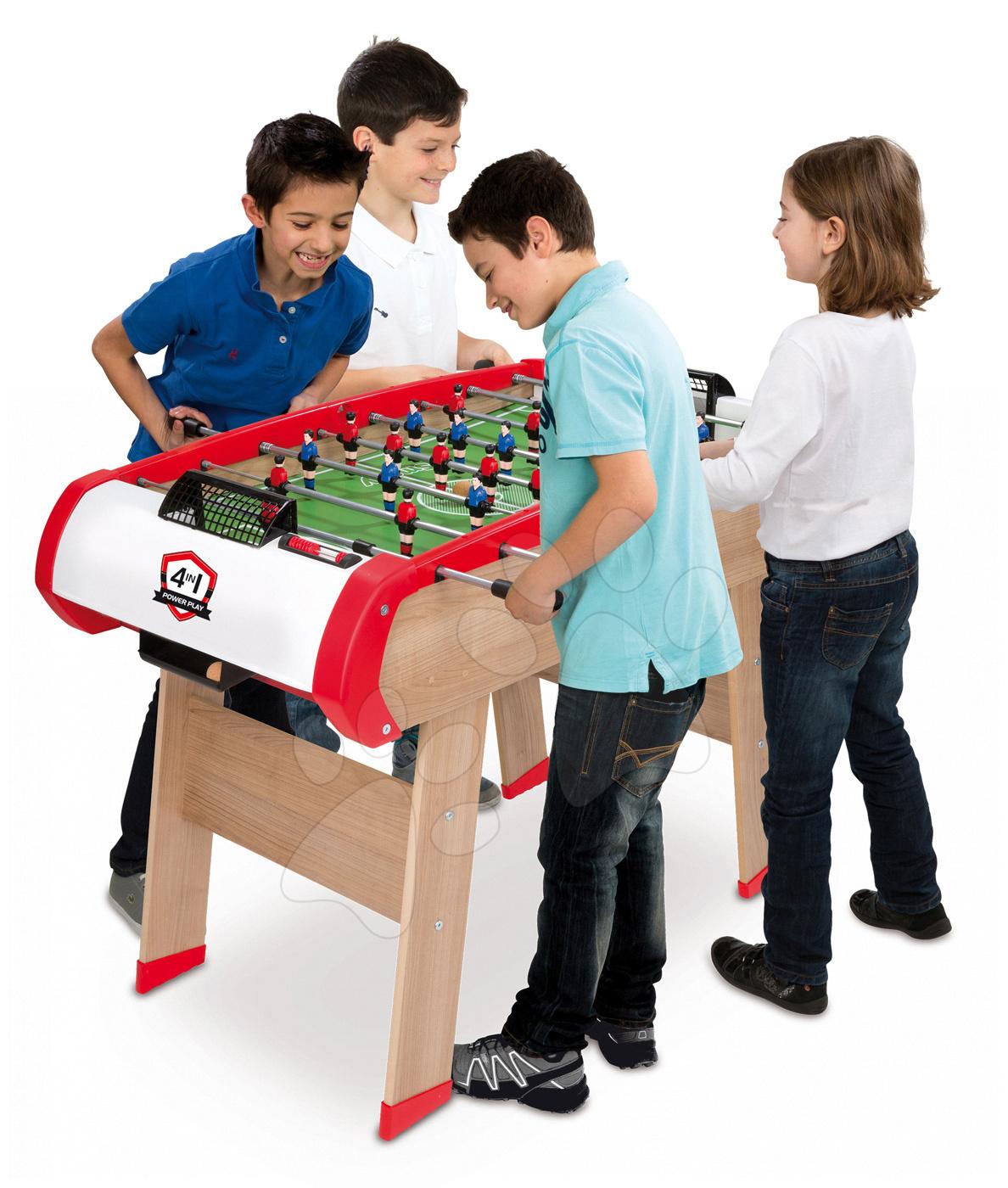 masă de fotbal power play 4in1 smoby multifuncţională