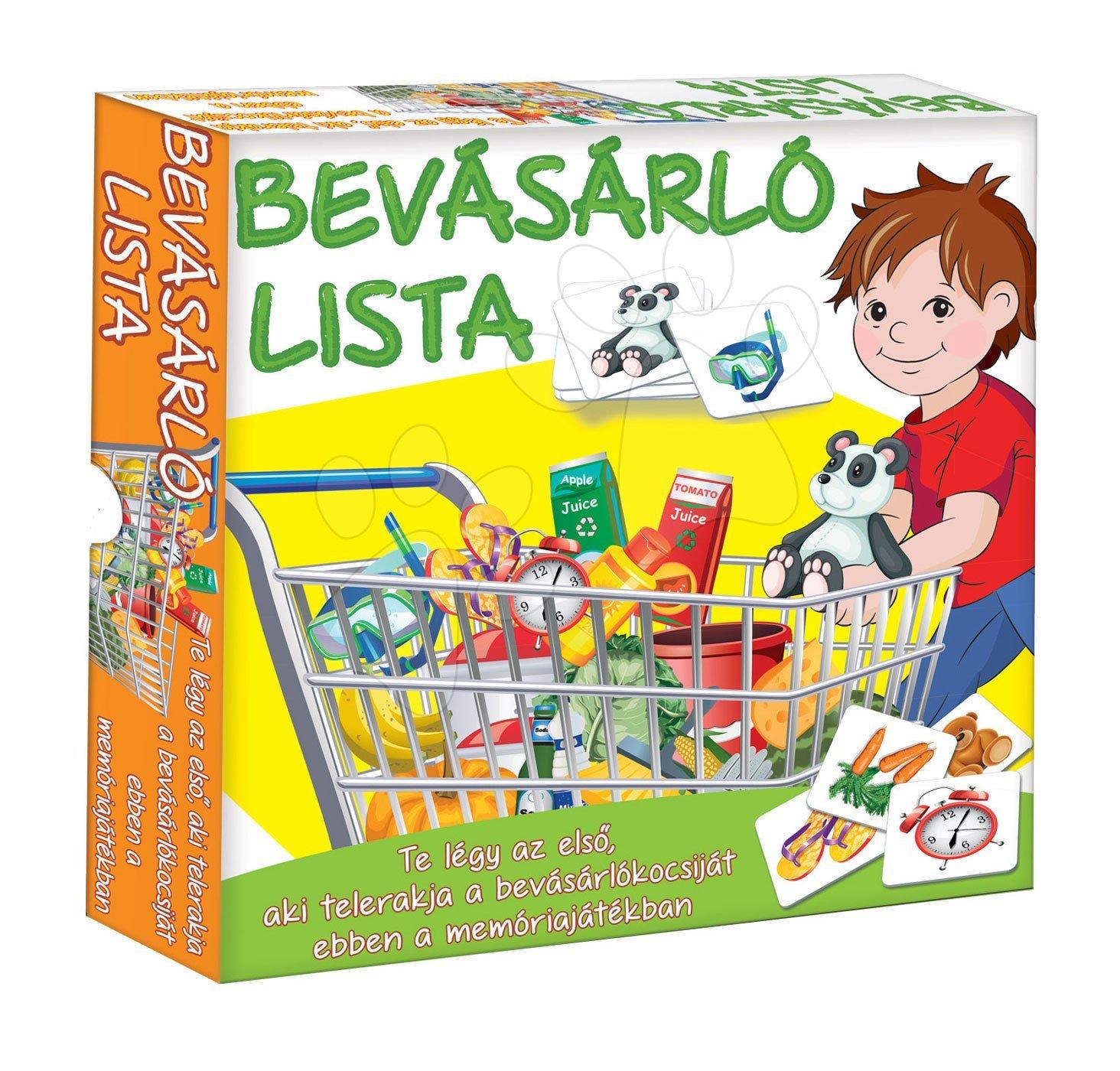 Spoločenské hry pre deti - Spoločenská hra Môj nákupný vozík - pamäťová a náučná hra o potravinách Dohány