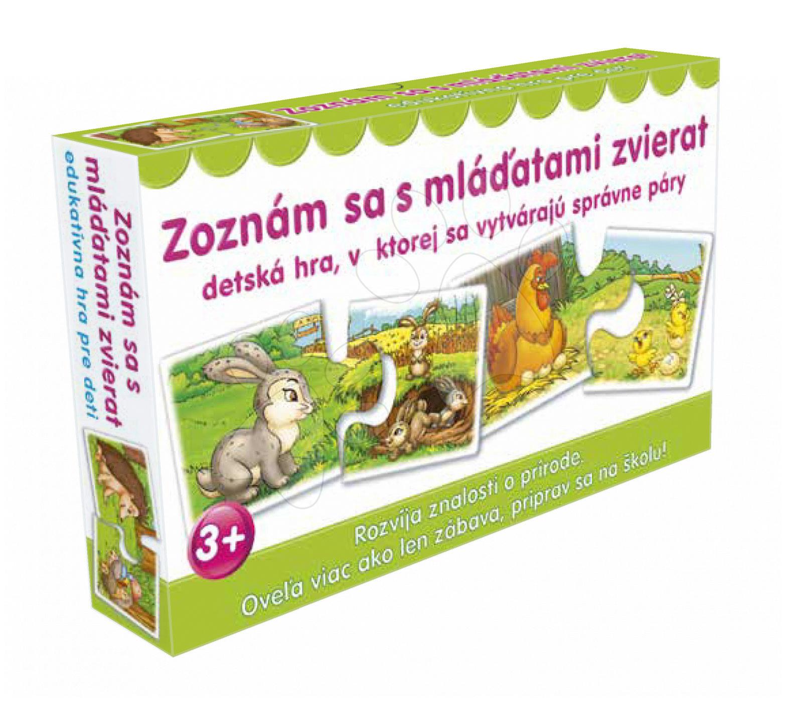 Naučná společenská hra Seznam se s mláďaty zvířat Dohány (jazykové verze SR, CR, HU, RO)