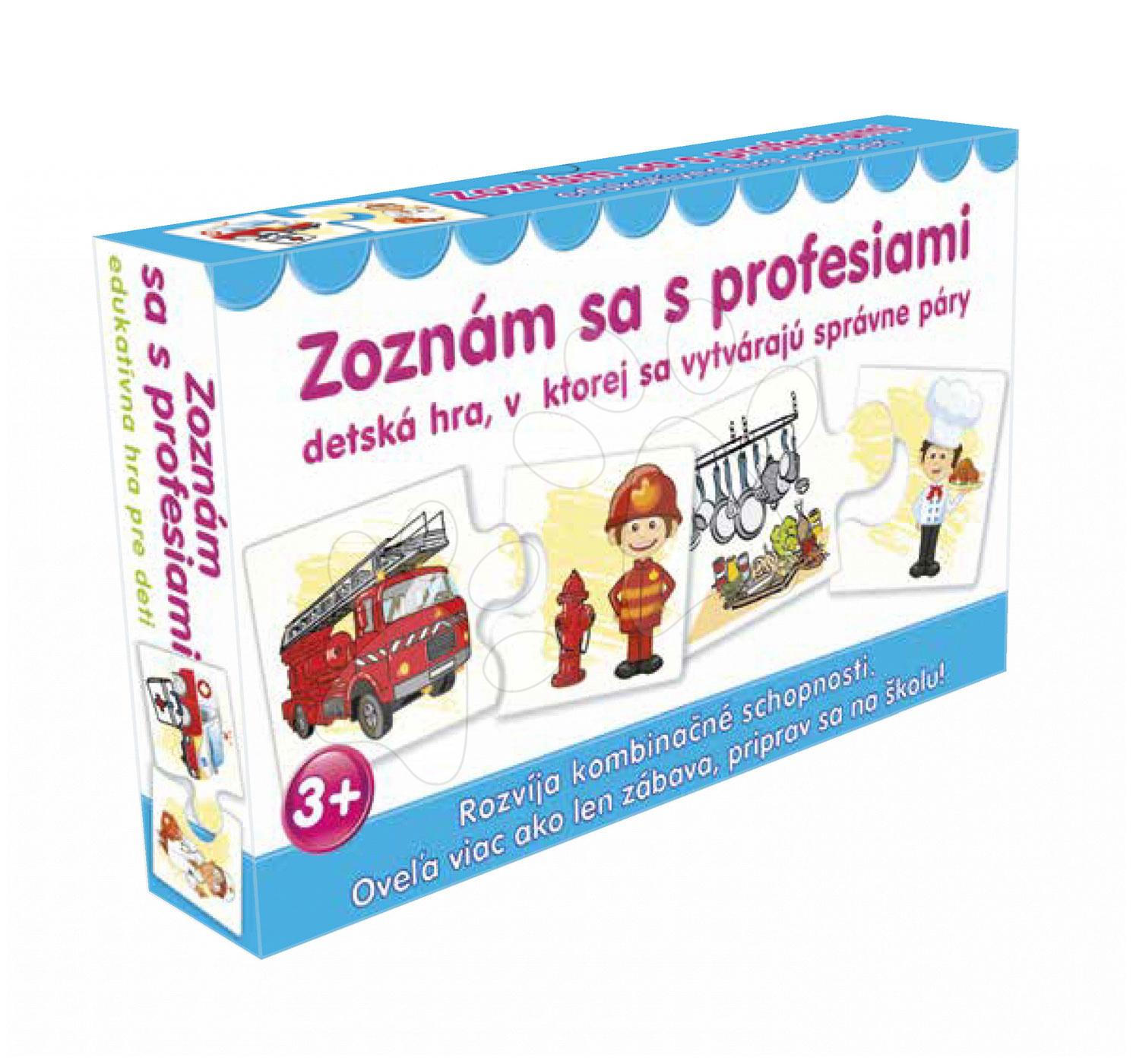 Naučná společenská hra Seznam se s profesemi Dohány (jazykové verze SR, CR, HU, RO)