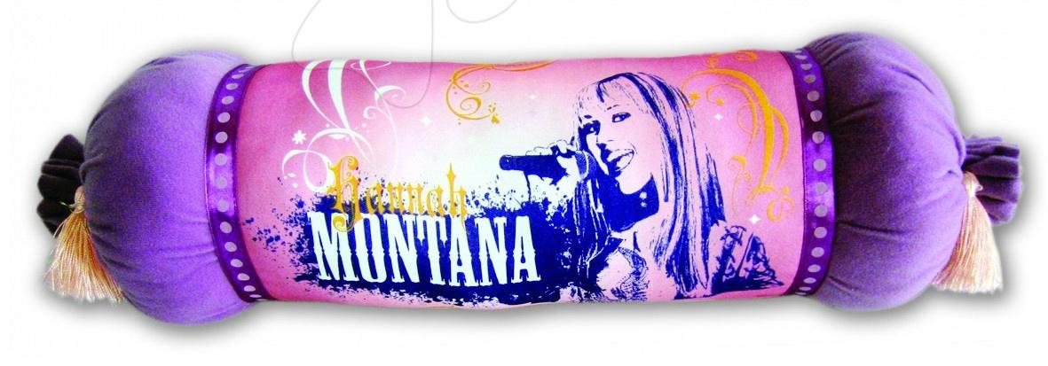 Plyšové polštáře - Polštář WD Hanna Montana Ilanit 46 cm fialový