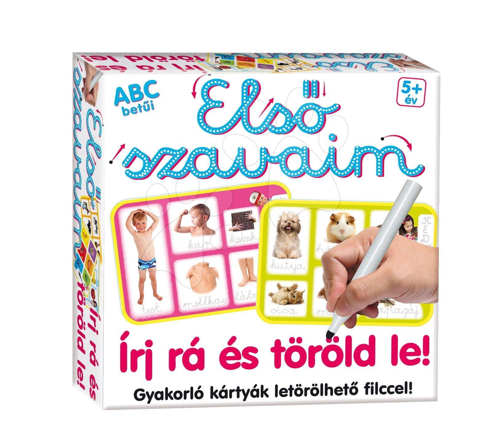 Náučná hra Slová ABC Napíš a zmaž Dohány (jazykové verzie SK, CZ, HU, RO) od 5 rokov
