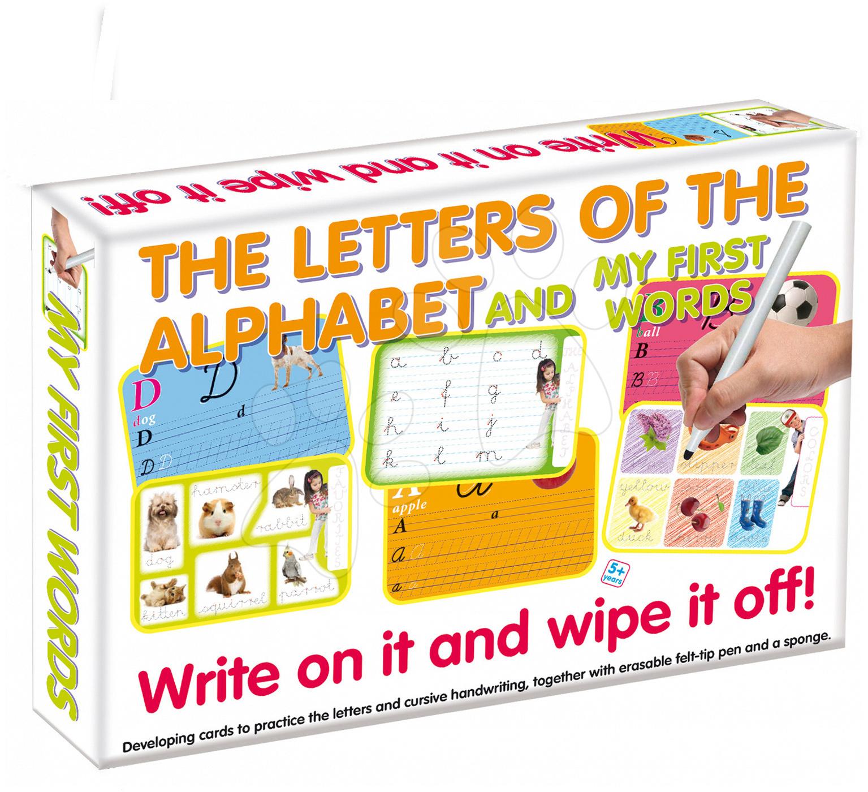 Naučná hra Písmena ABC a první slova - napiš a smaž Dohány (jazykové verze SR, CR, HU, RO) od 3 let