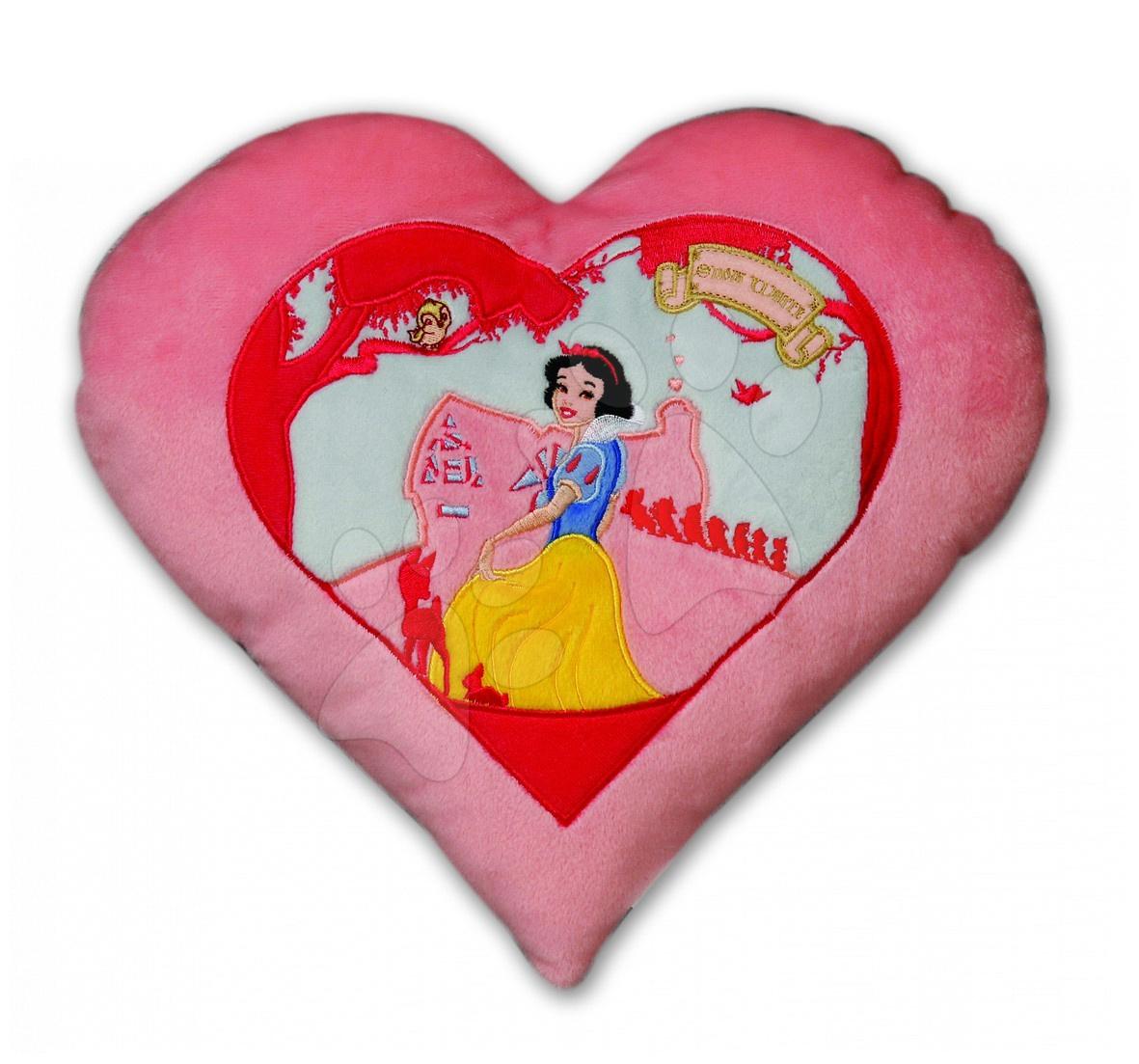 Polštář WD Princezny Ilanit Sněhurka srdíčko 36 cm růžový