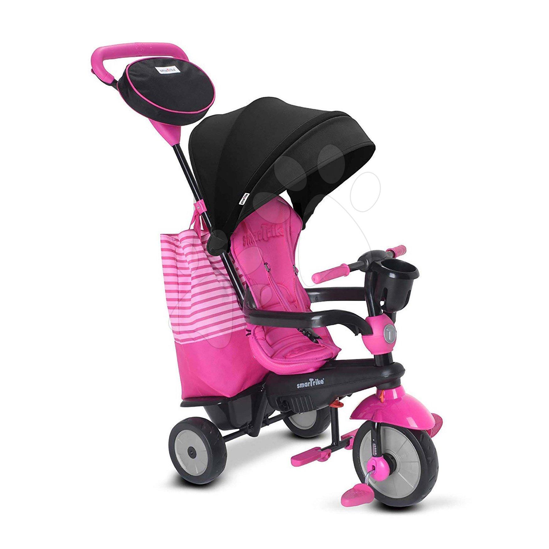 Trojkolka SWING DLX 4v1 Pink TouchSteering smarTrike s tlmičom a voľnobehom + UV filter ružová od 10 mes