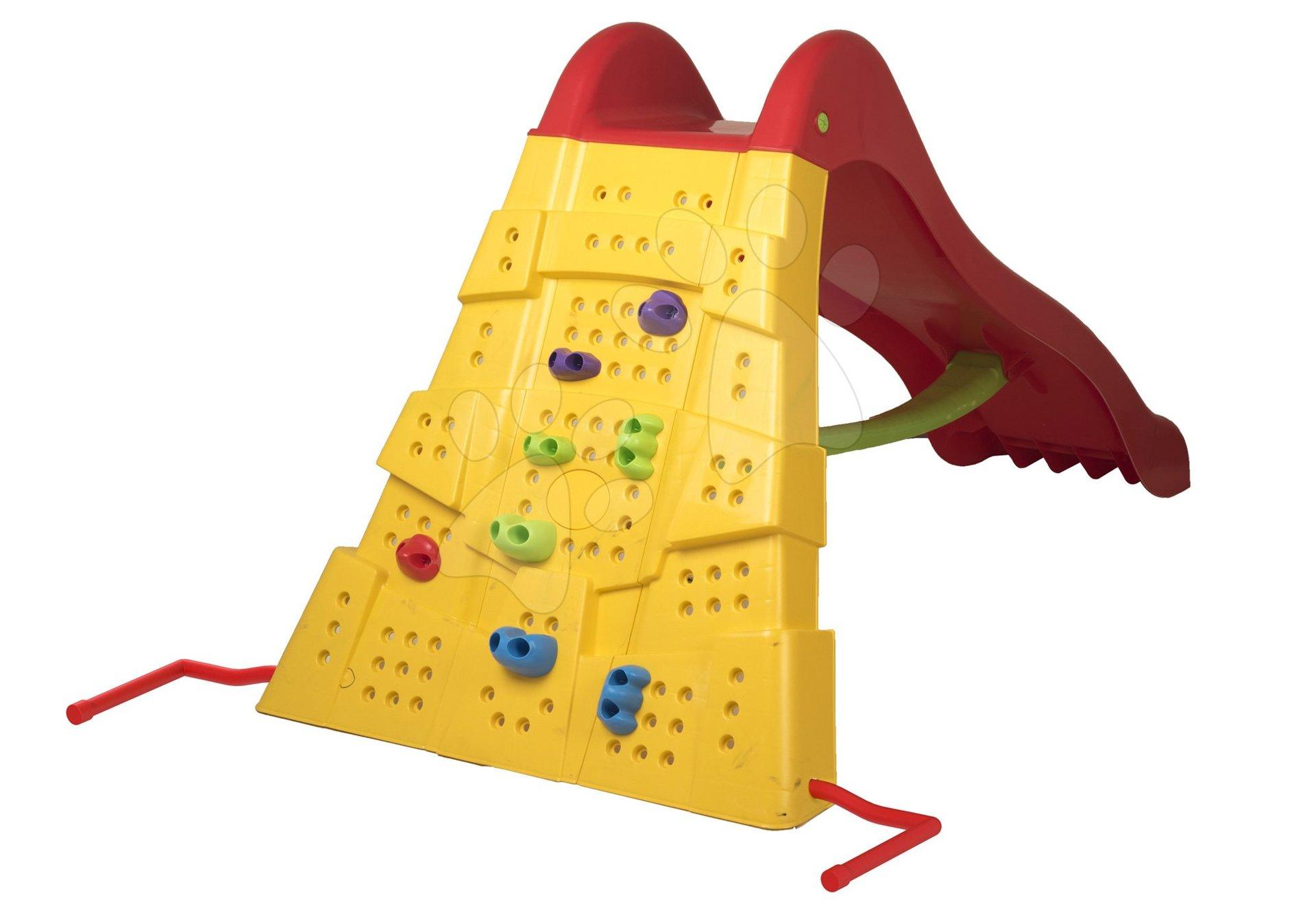 Skluzavka s lezeckou stěnou Starplast červeno žlutá