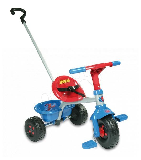 Tricicletă Disney Omul păianjen Smoby albastru-roşu