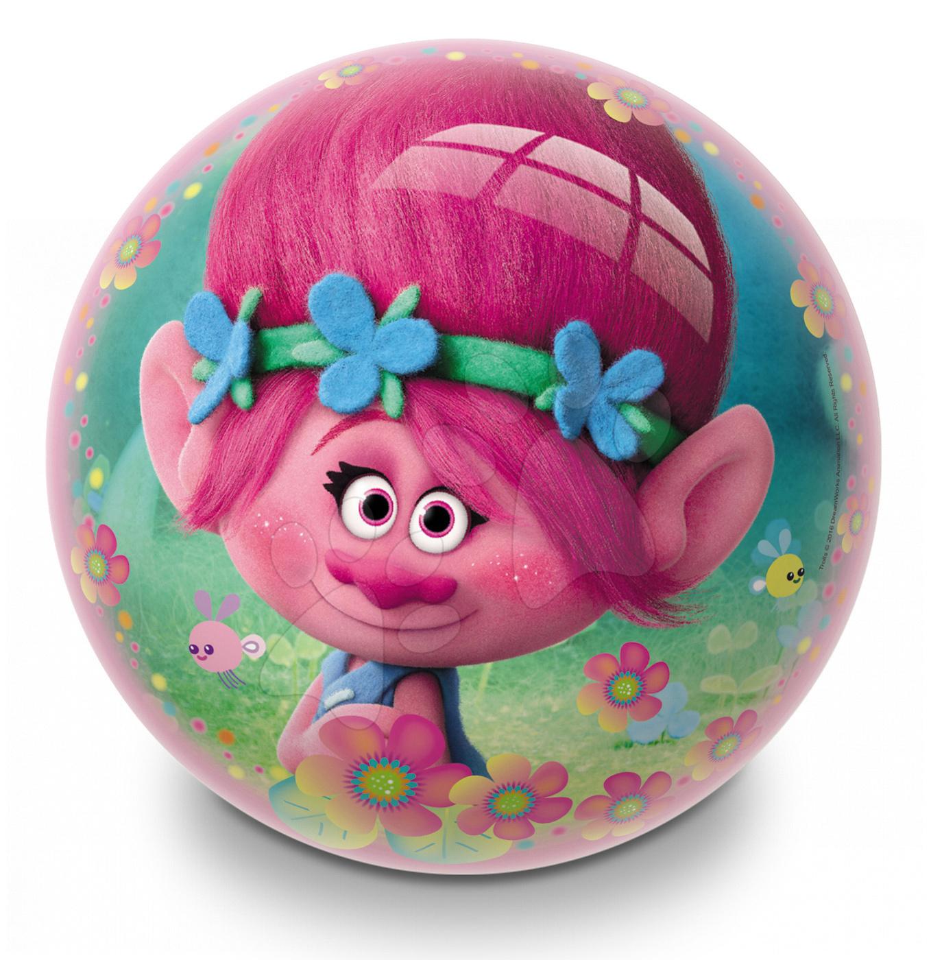 Pohádkový míč Trolls Poppy Mondo pryžový 23 cm