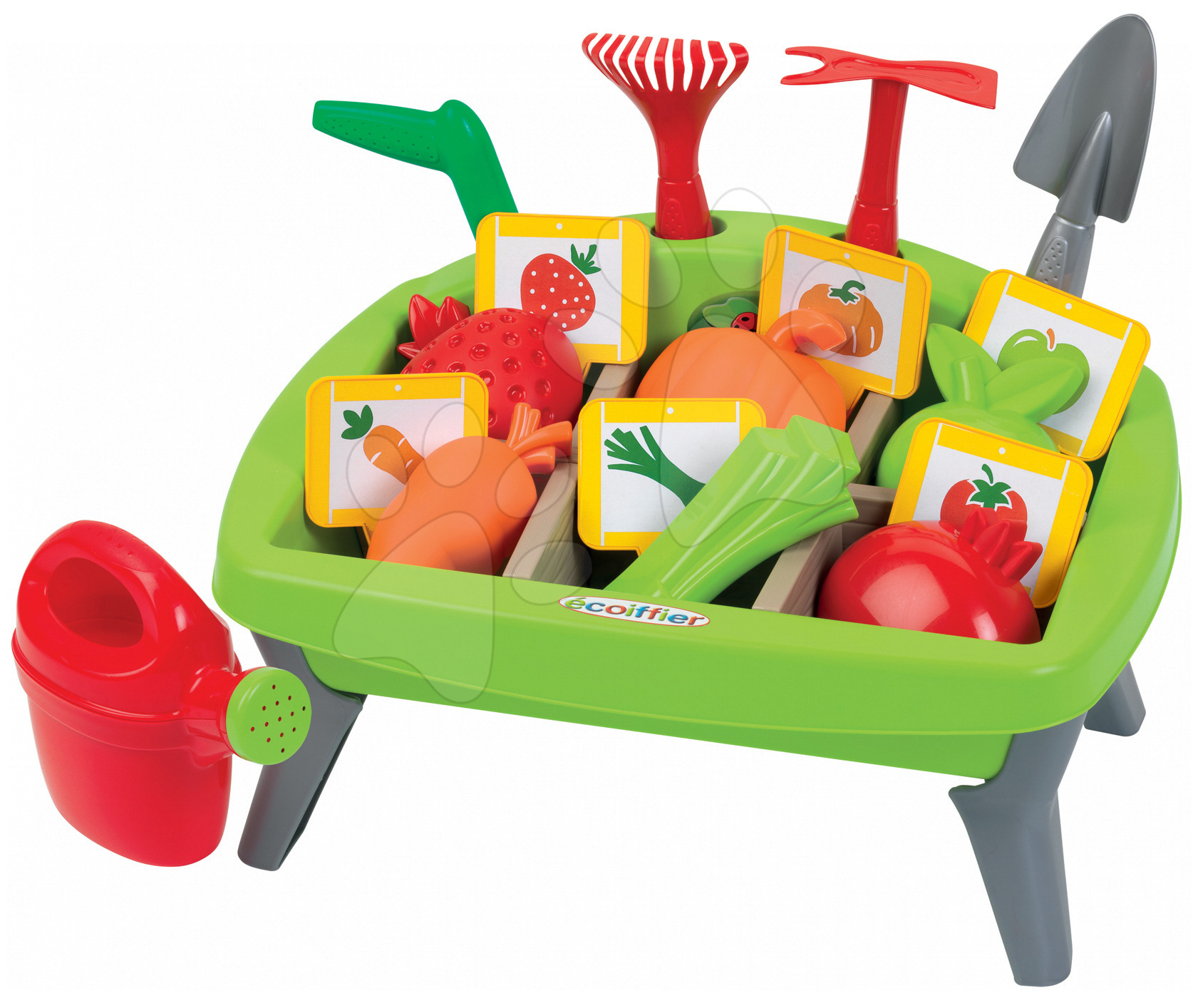 Hry na záhradníka - Zeleninová záhrada Jardin&Saisons Écoiffier s formičkami a náradím od 18 mes