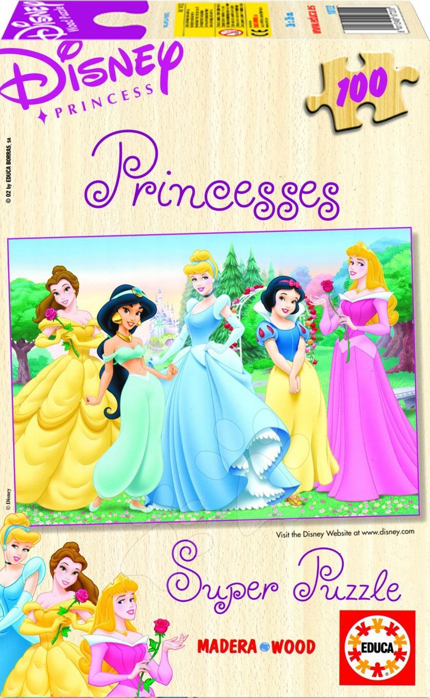 Dřevěné Disney puzzle - Disney puzzle dřevěné Princezny Educa 1000 dílků