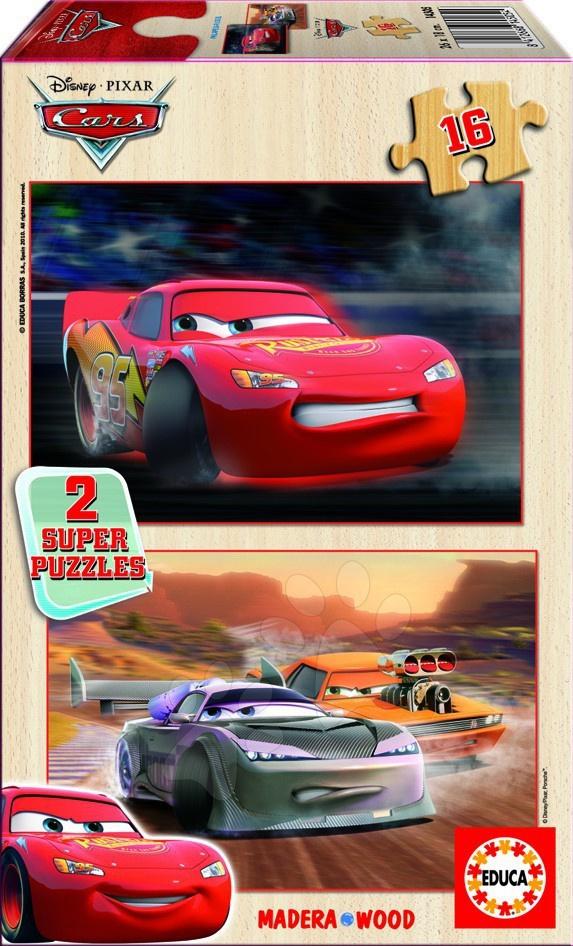 Dřevěné puzzle Cars Educa 2x16 dílků