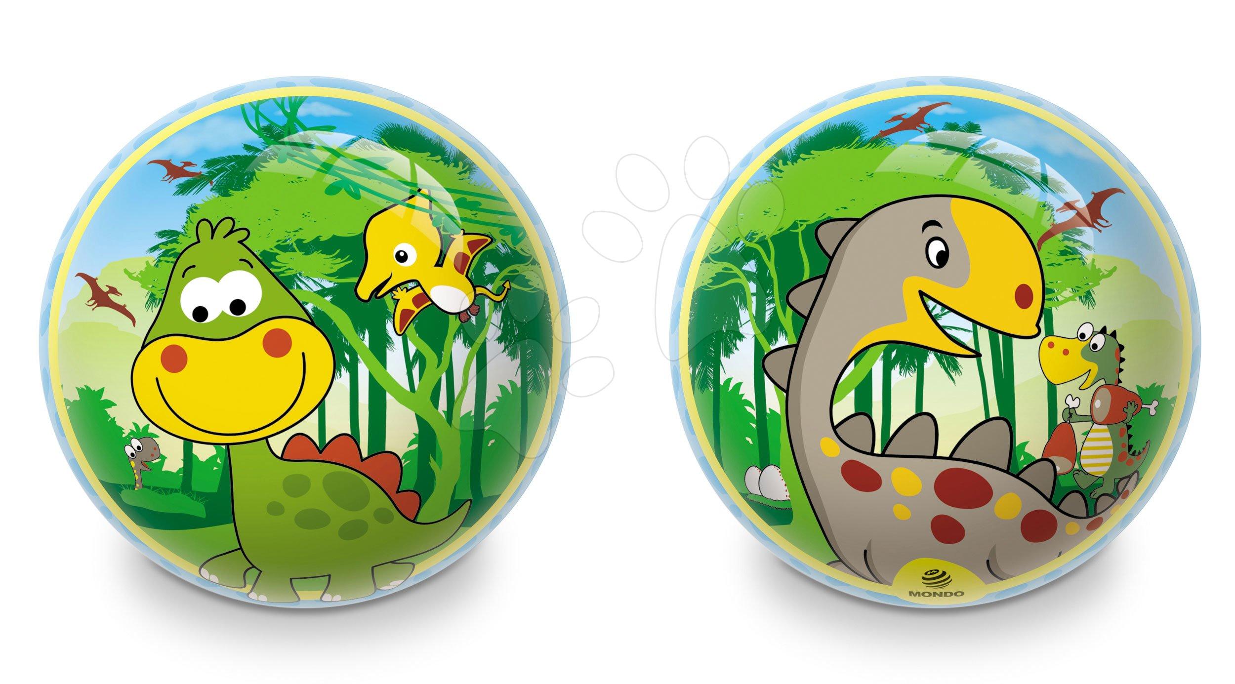 Pohádkový míč Dinosaur Mondo gumový 23 cm