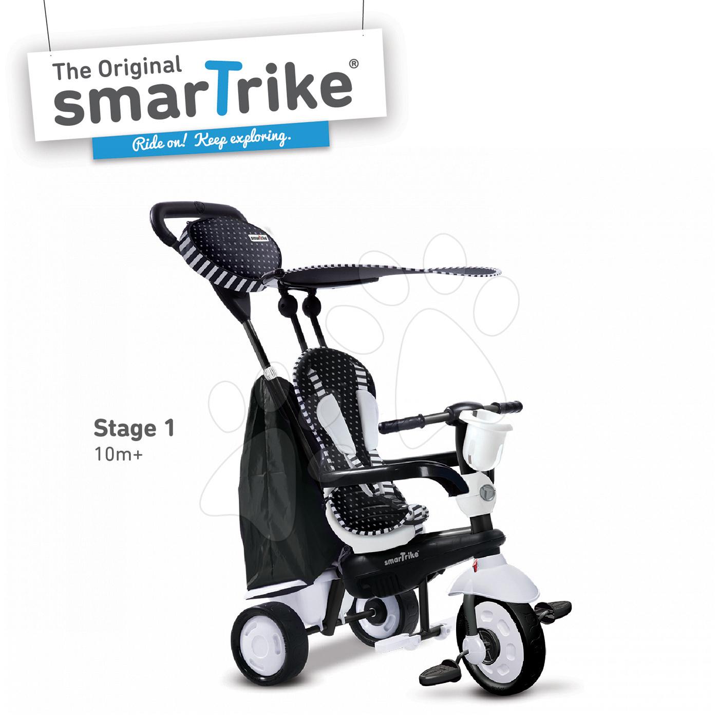 Tříkolka Spark BlackWhite 4v1 smarTrike Touch Steering od 10 měsíců