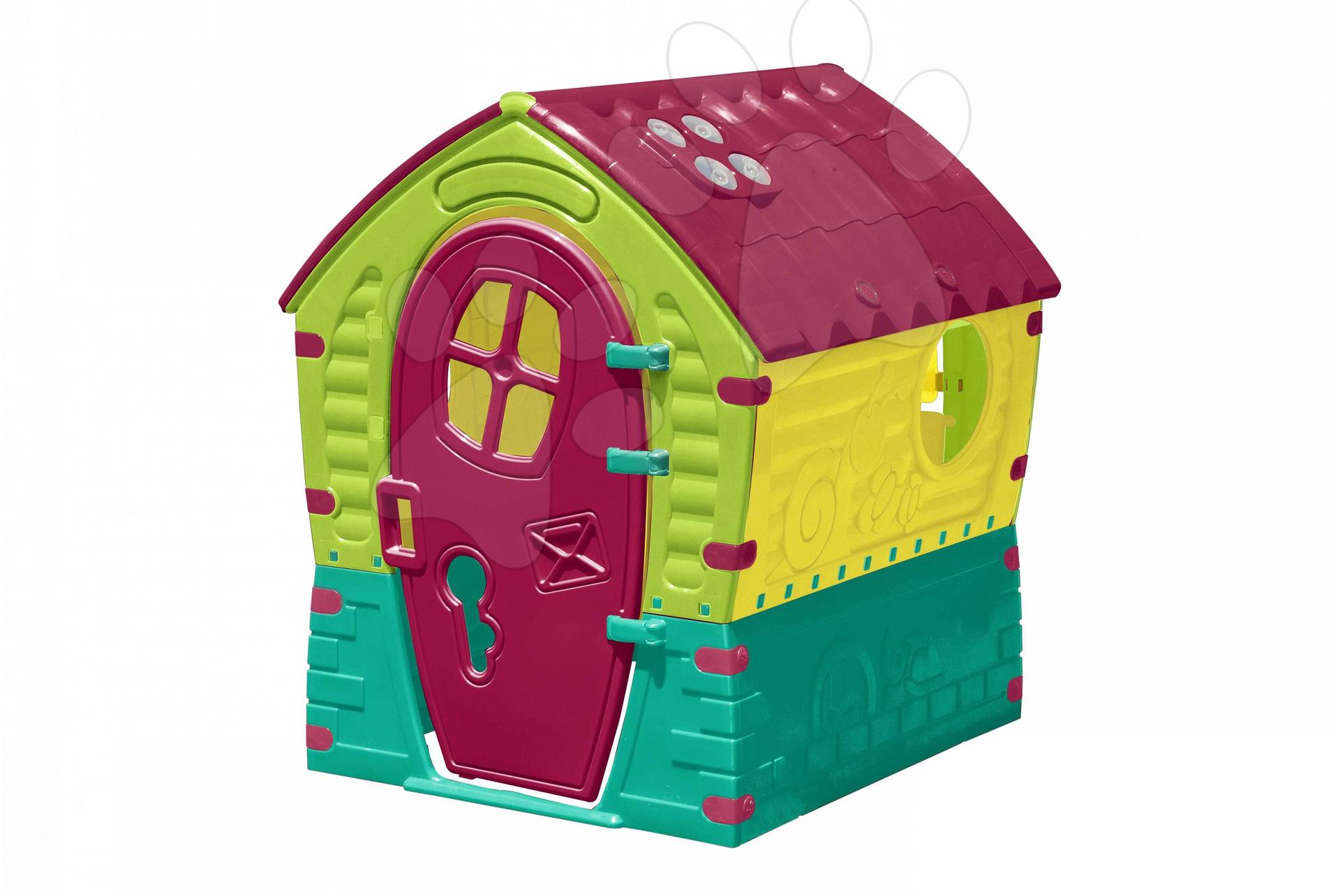 Domčeky pre deti - Domček Fairies Dream House PalPlay fialovo-zeleno-žltý od 24 mes