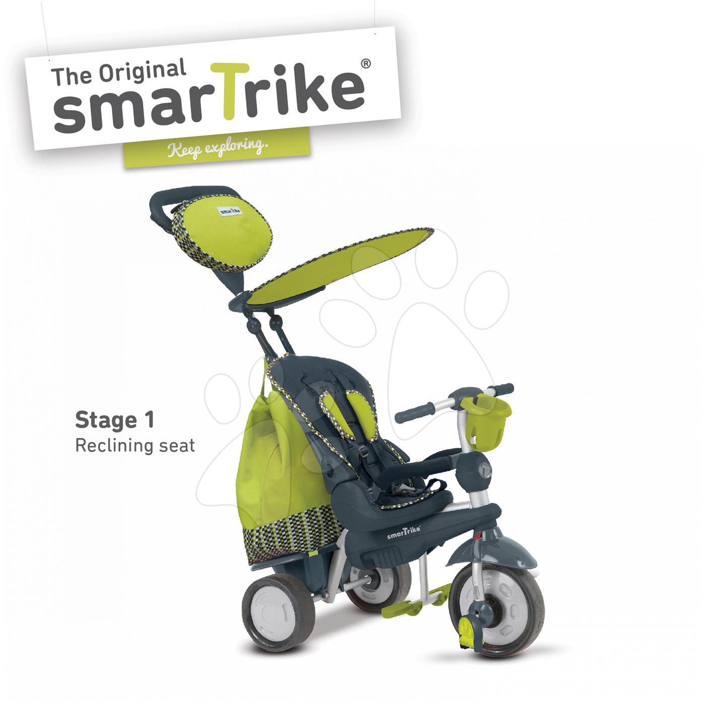 Trojkolka Splash 5v1 Green smarTrike 360° riadenie s polohovateľnou opierkou zeleno-šedá od 10 mes