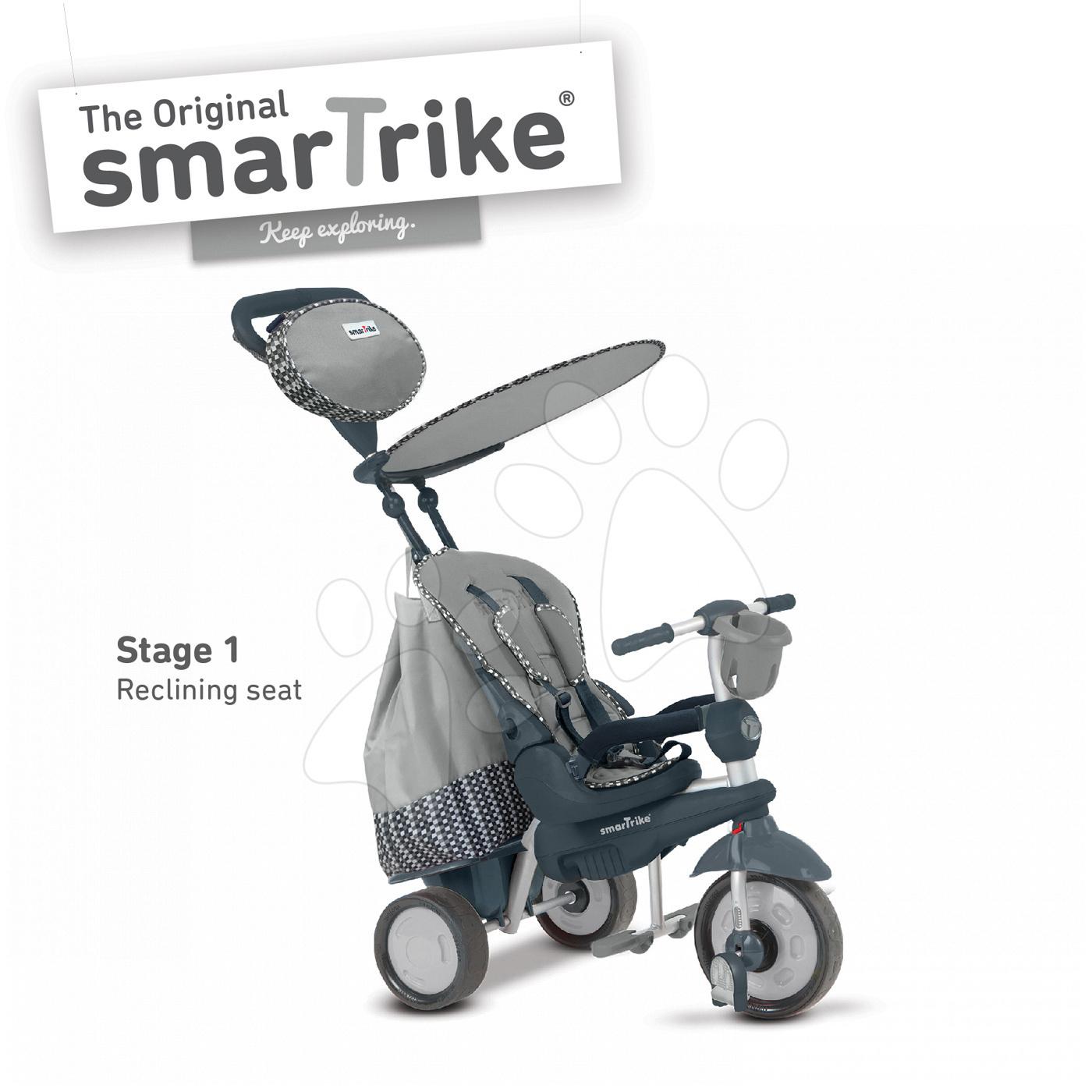 Trojkolka Splash 5v1 Grey smarTrike 360° riadenie strieborno-šedá od 10 mes