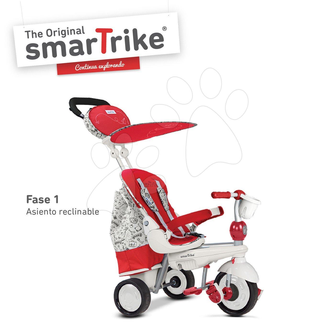 Trojkolka Dazzle 5v1 Red&White Touch Steering smarTrike červeno-šedá od 10 mes