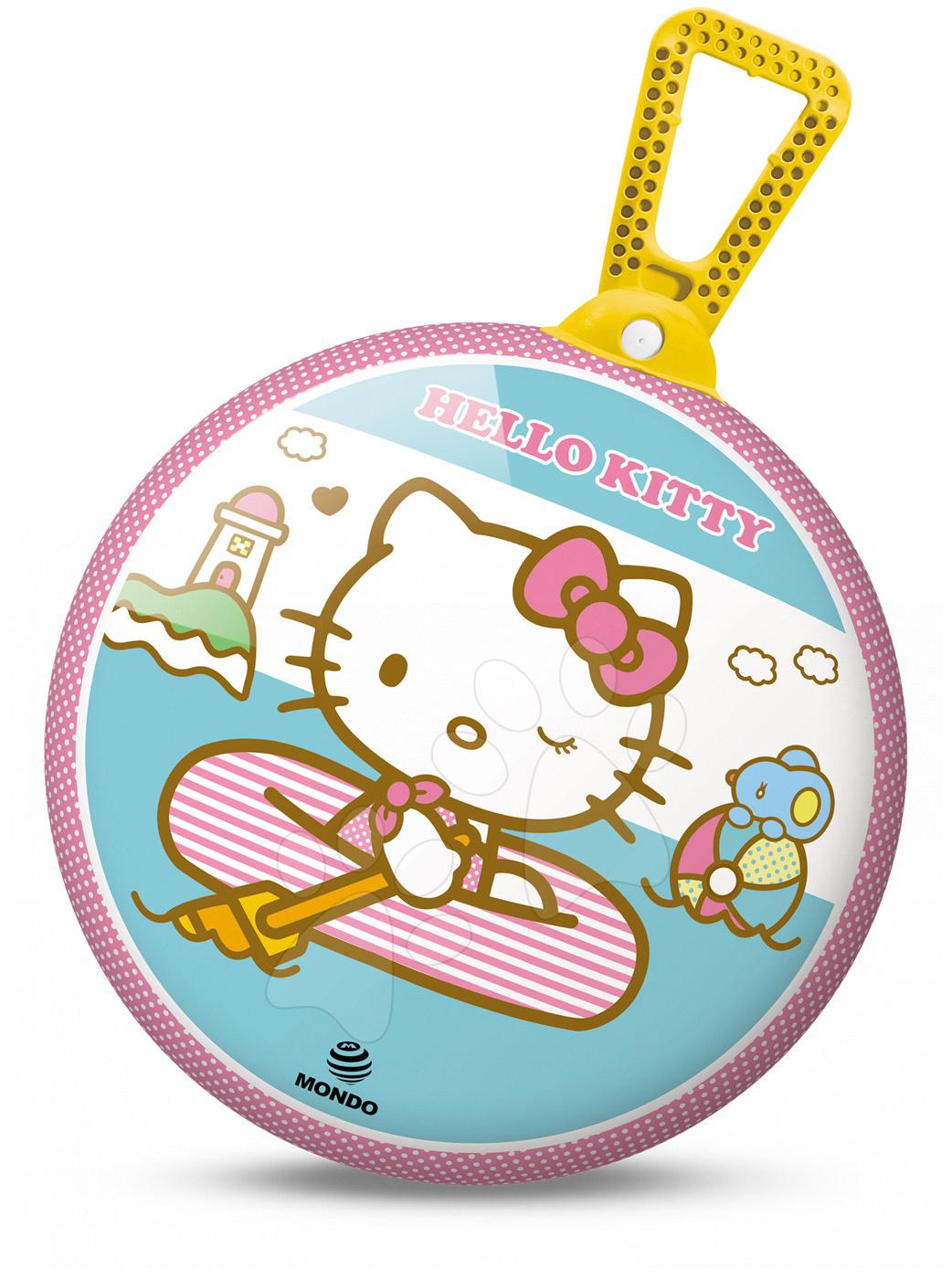 Detské skákadlá a hopsadlá - Lopta na skákanie Kangaroo Hello Kitty Mondo s držiakom 45 cm