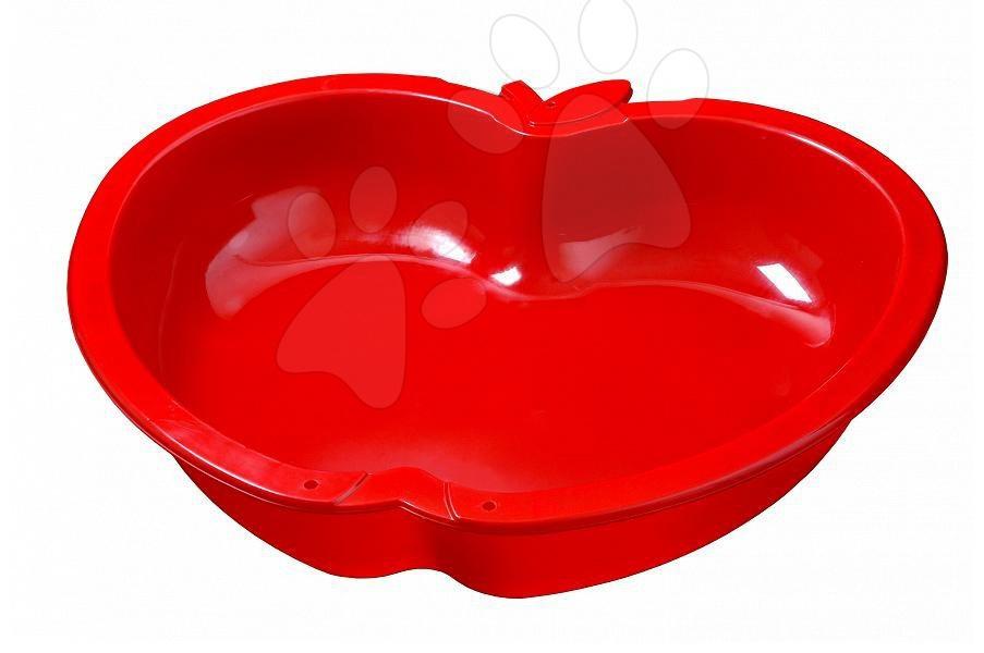 Pískoviště pro děti  - Pískoviště Jablko Starplast objem 112 litrů červené od 24 měsíců