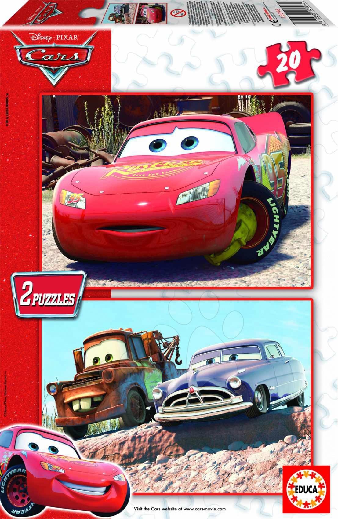 Disney puzzle Cars Educa 2 x 20 dílků