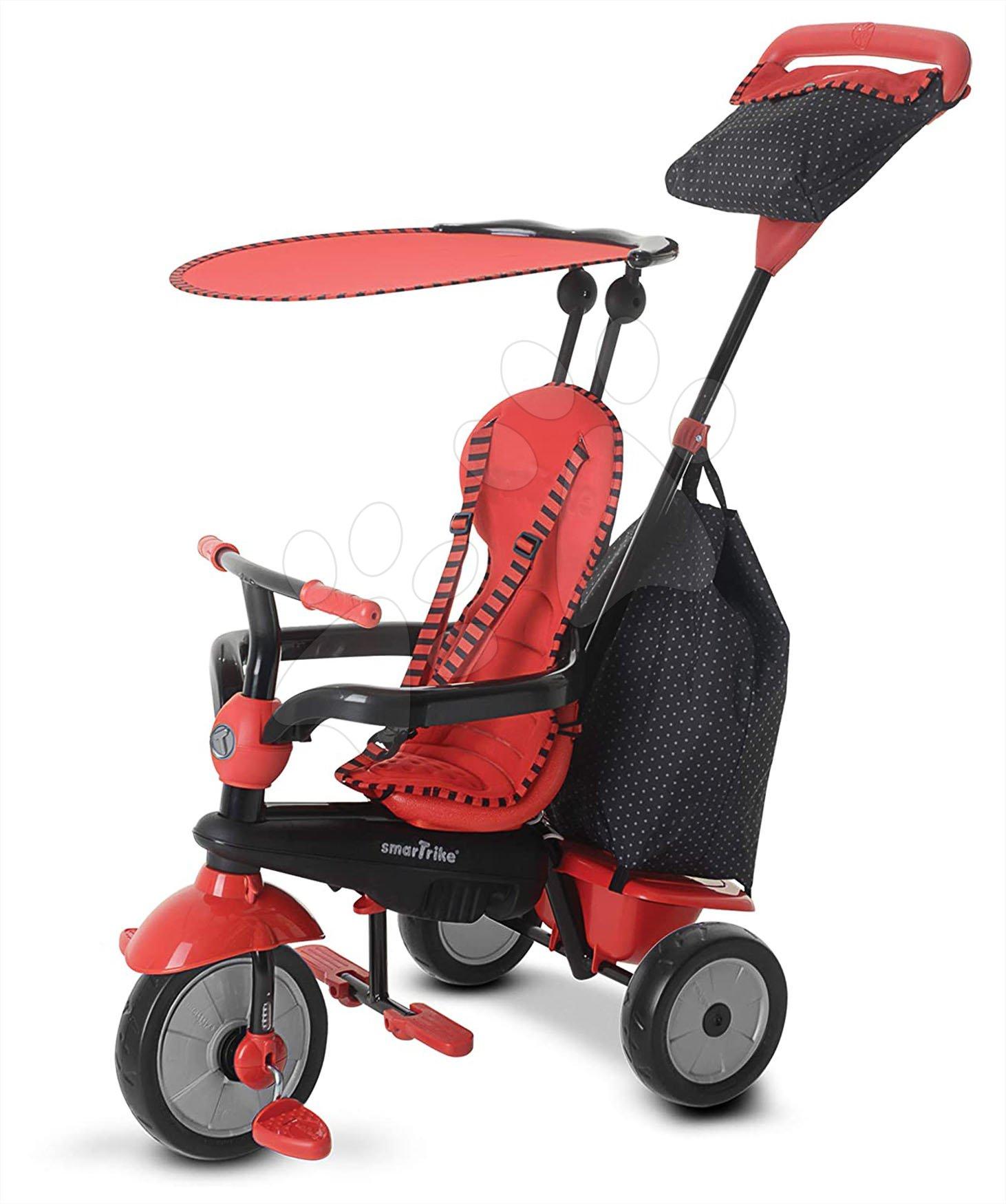 Tříkolka Glow Touch Steering 4v1 Black&Red smarTrike červeno-černá od 10 měsíců