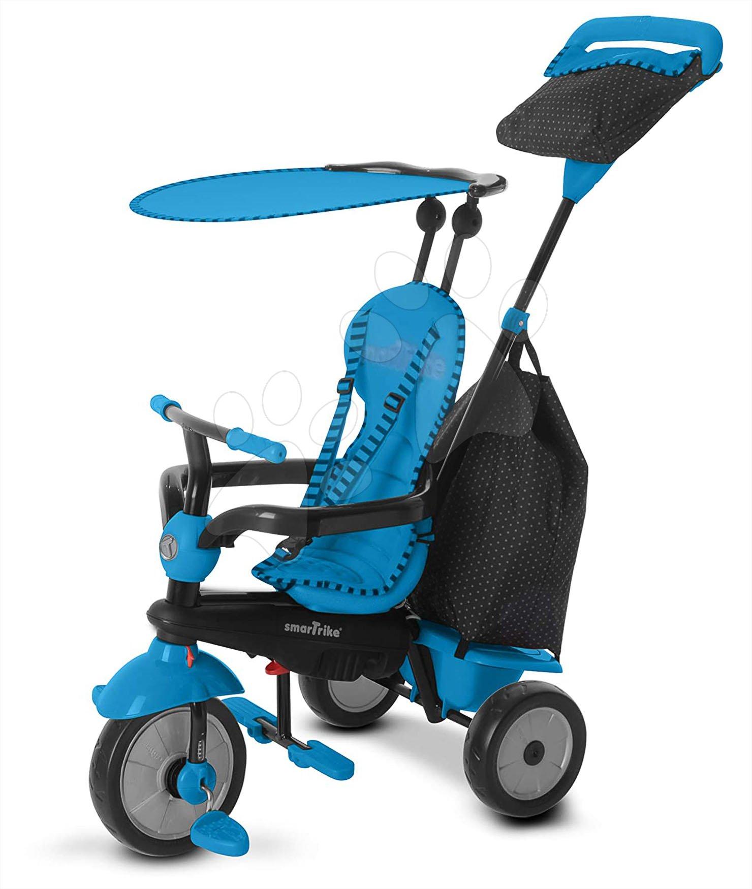 Trojkolky od 10 mesiacov - Trojkolka Glow Touch Steering 4v1 smarTrike modro-čierna od 10 mes