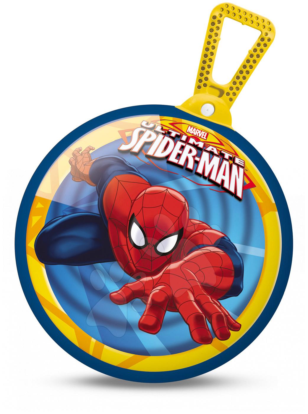 Míč na skákání Kangaroo Spiderman Mondo s držákem 45 cm