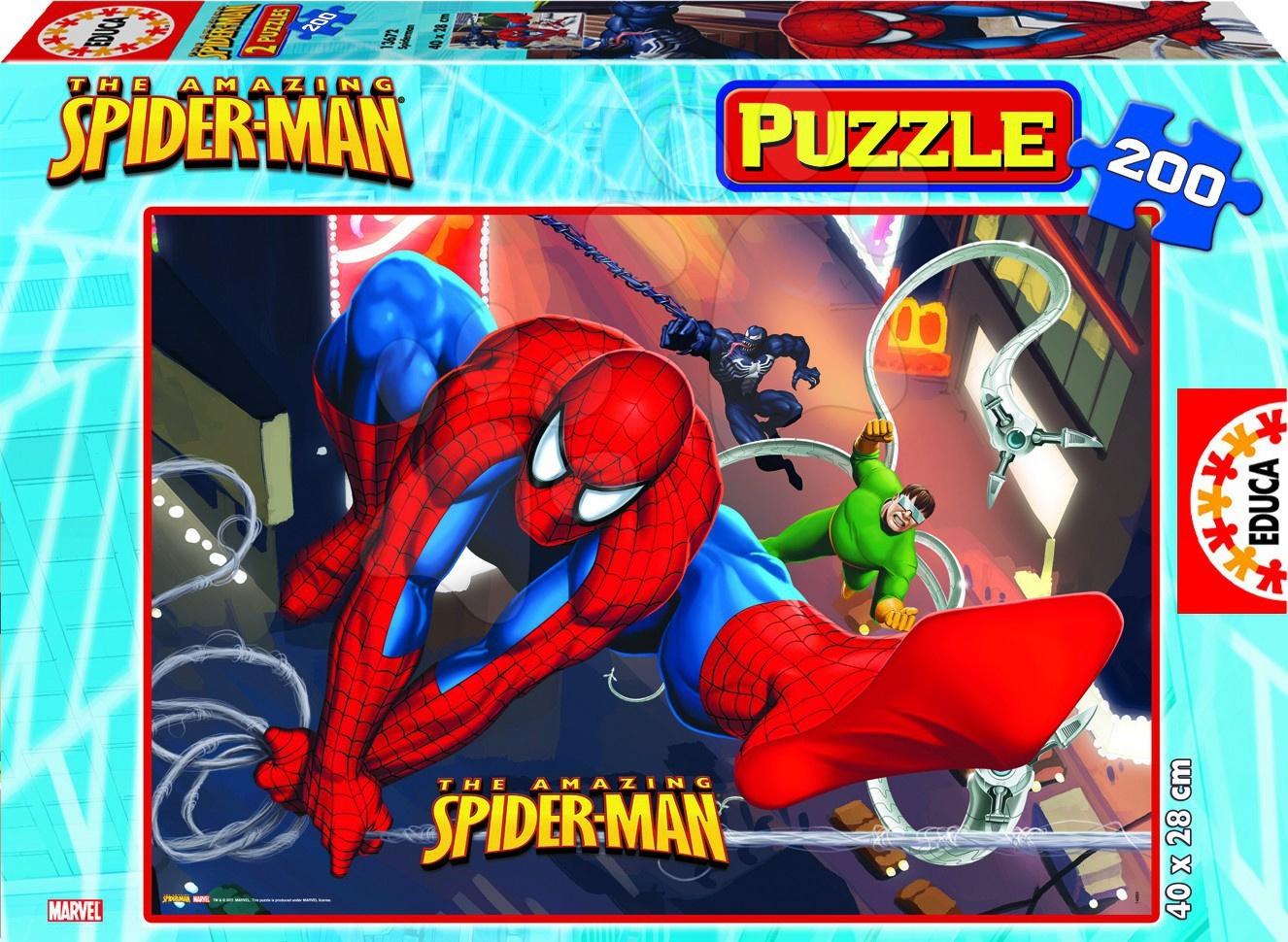 Gyerek puzzle 100-300 darabos - Puzzle – Pókember Educa 200 db