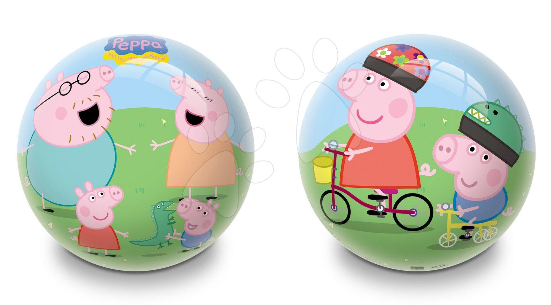 Pohádkový míč Prasátko Peppa Pig Mondo pryžový 23 cm