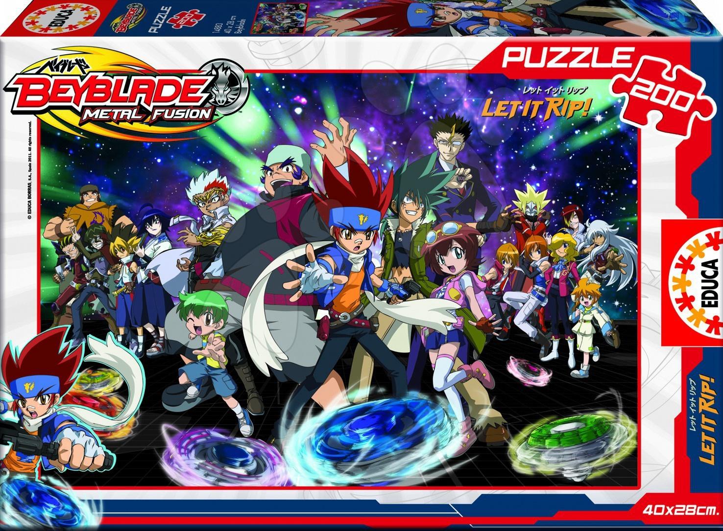 Dětské puzzle od 100–300 dílků - Disney puzzle Beyblade Educa 200 dílků