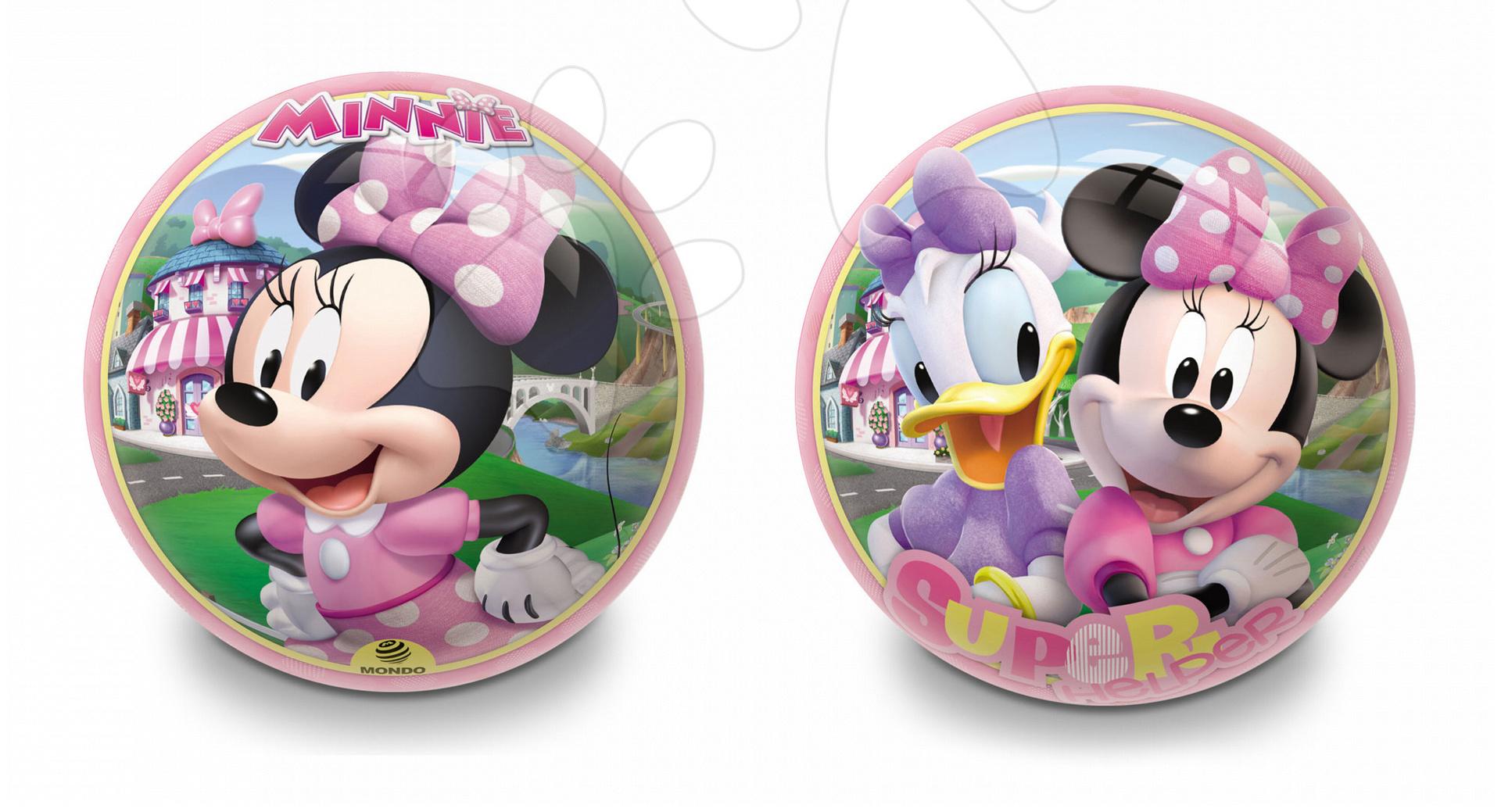 Rozprávková lopta Minnie Mondo gumená 23 cm