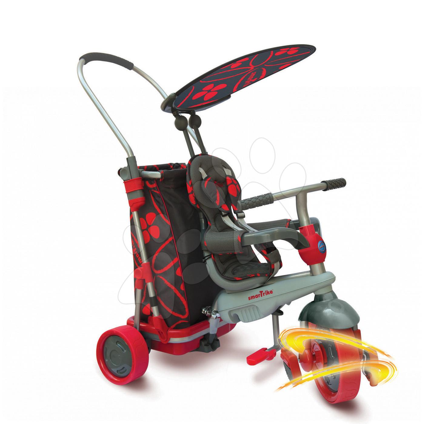 Tříkolka smarTrike Go Touch Steering s nákupním vozíkem černo-červená od 10 měsíců