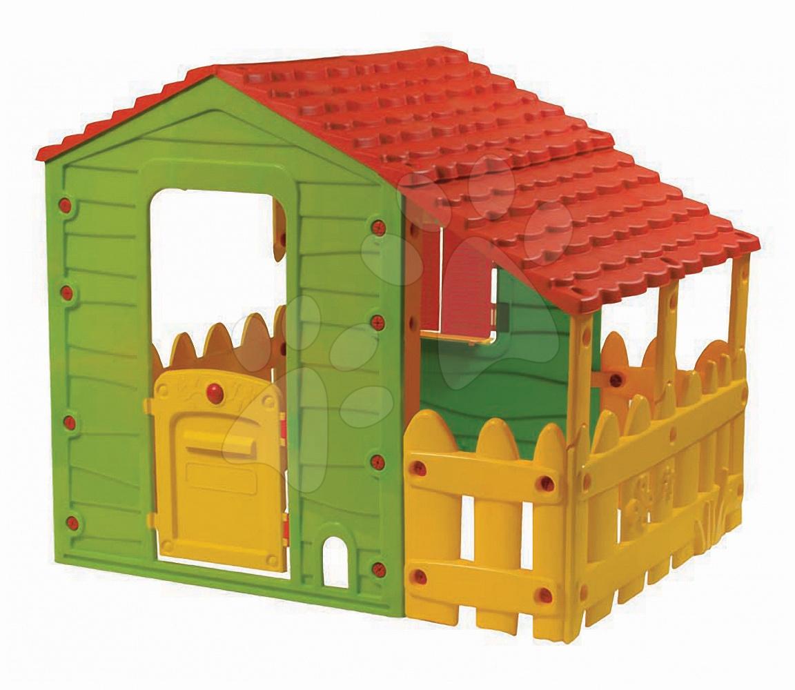 Domečky pro děti - Domeček Farm House Starplast s plotem a střechou od 24 měsíců