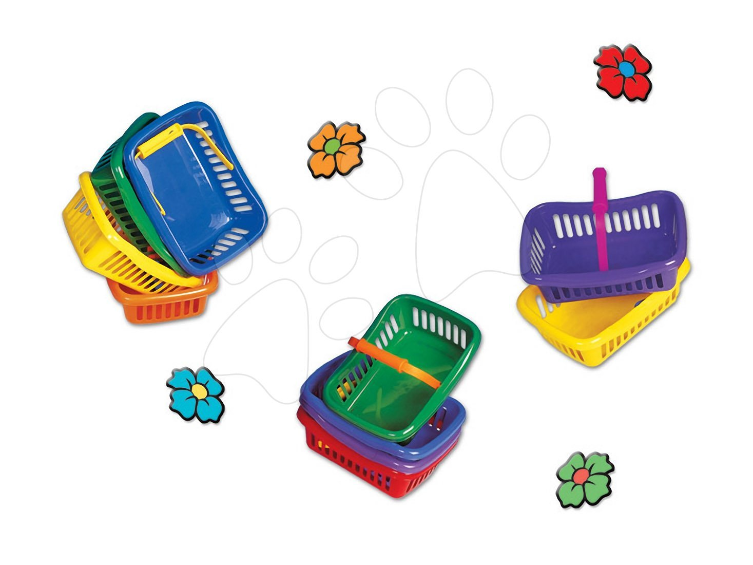Játékkonyha kiegészítők és edények - Piknik kosár Dohány kicsi különböző színek