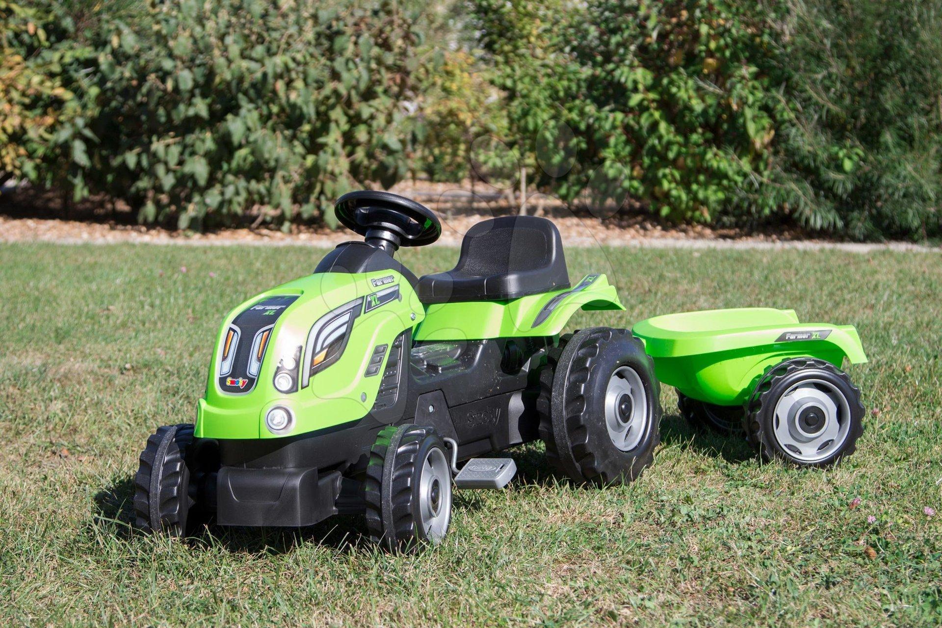 Traktor pro děti Farmer XL Smoby zelený