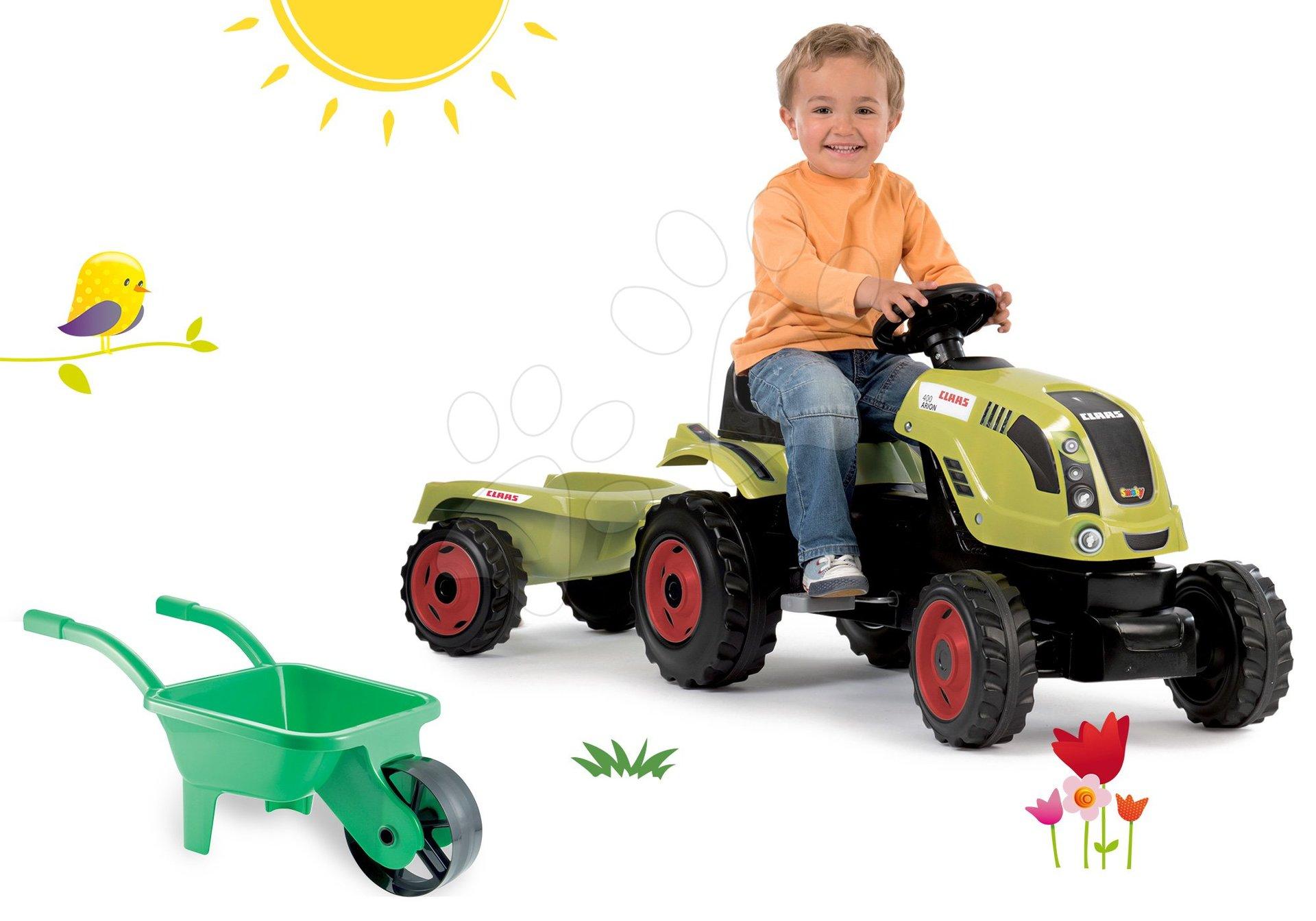 Smoby set traktor Claas Farmer XL Žaba a Écoiffier fúrik 710114-1